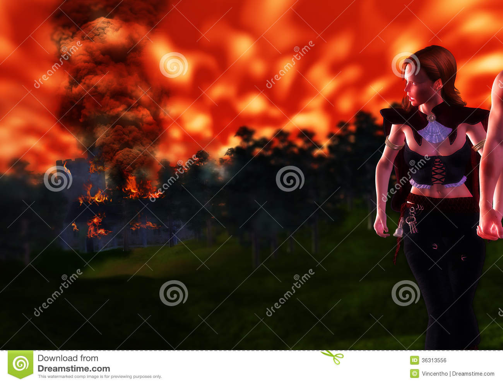 Hålla ögonen på infernot svälja hem från avlägset