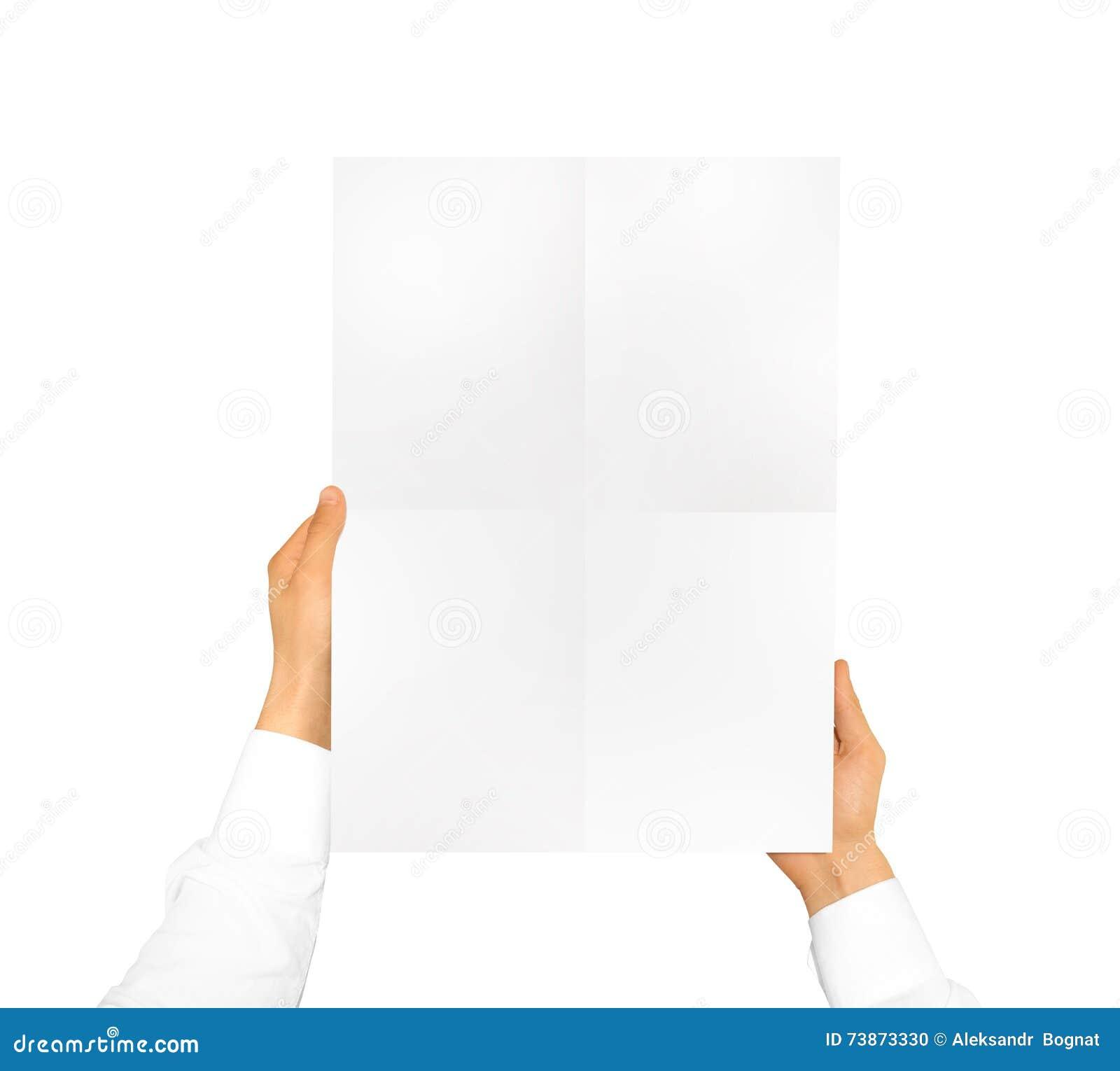 Hållande affischåtlöje för hand upp Trevlig modell som visar din design, pi