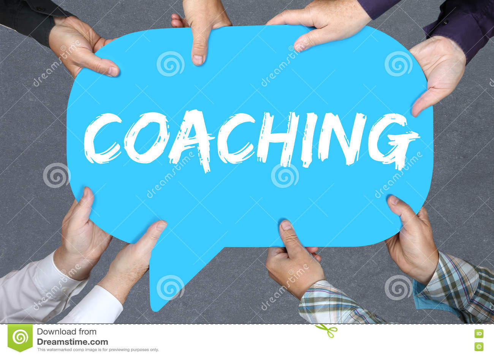 Hållande coachning för grupp människor och mentoringutbildningstrainin