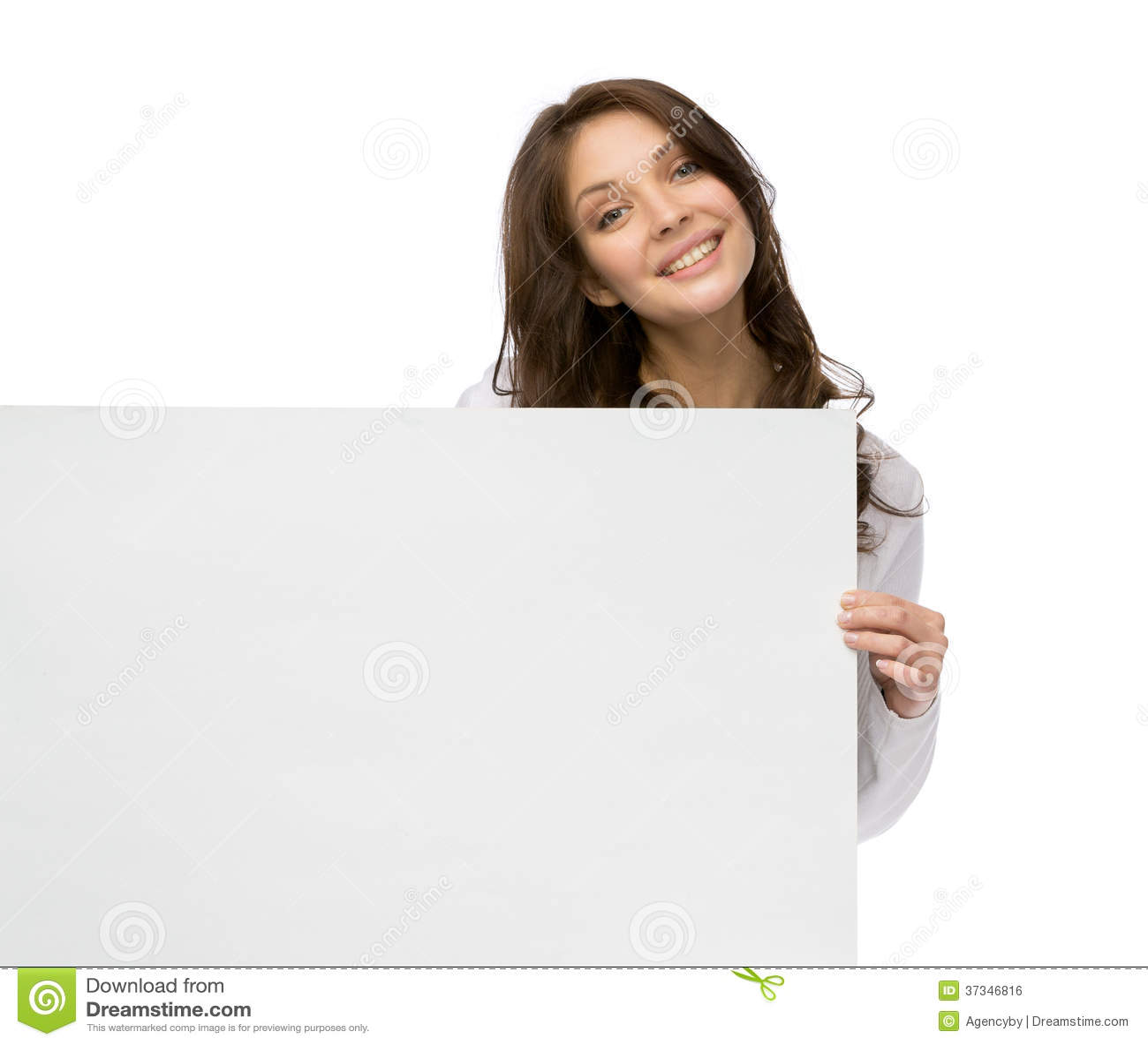 Hållande copyspace för Smileykvinna