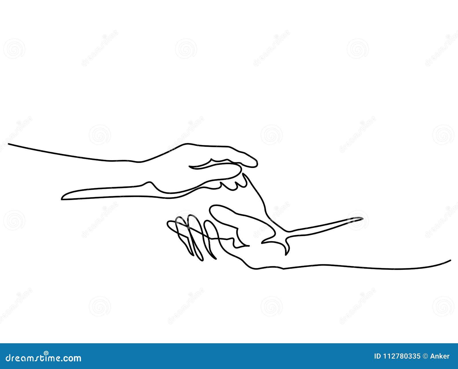Hållande man- och kvinnahänder tillsammans