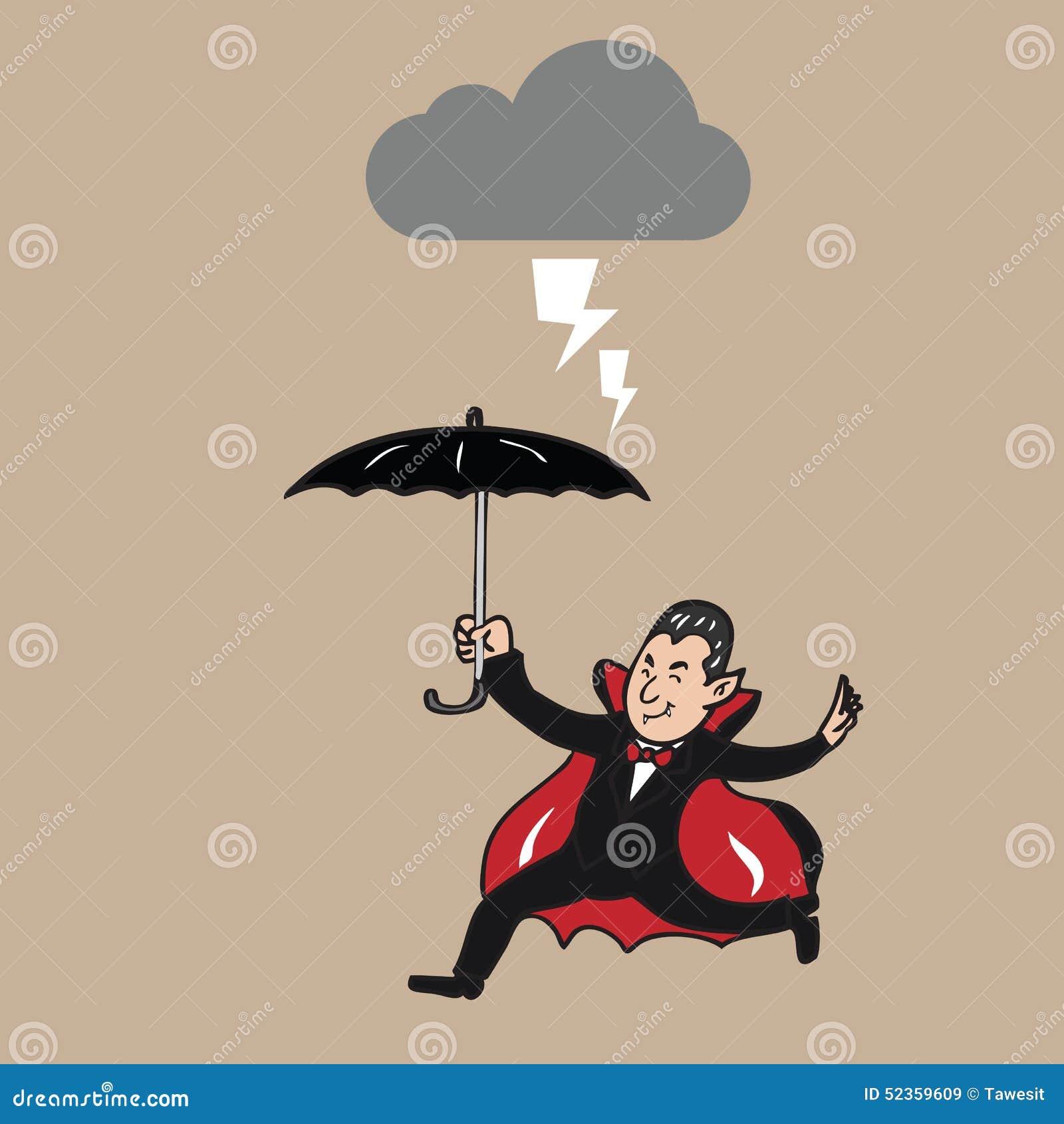 Hållande paraply för vampyr i strom