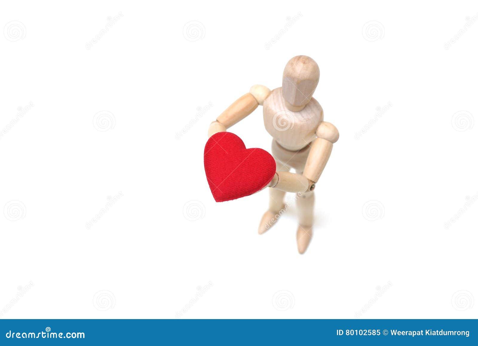 Hållande röd hjärta