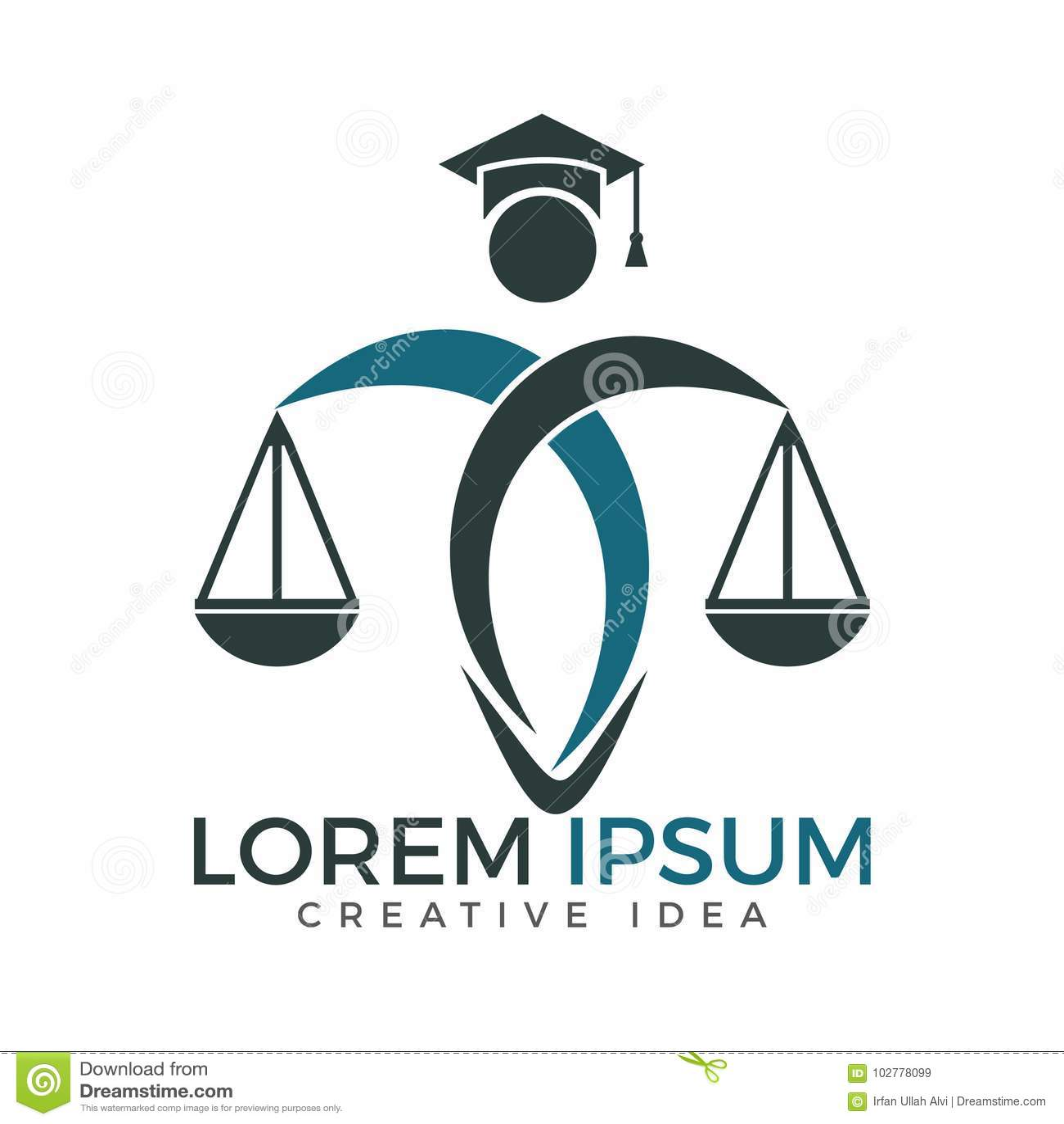Hållande våg för man av rättvisa Logo Lag och advokat Logo Design