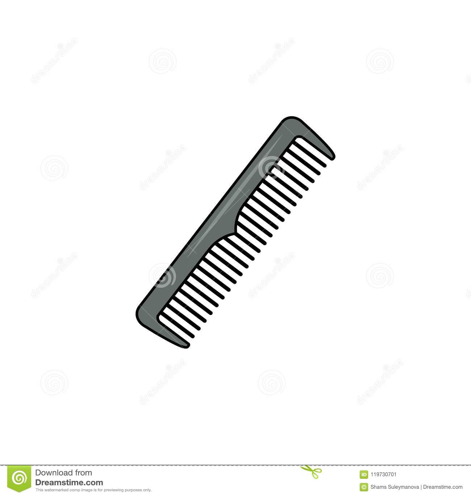 Hårborstesymbol Enkel beståndsdelillustration Hårborstesymboldesign från frisersalongsamlingsuppsättning Kan användas för rengöri