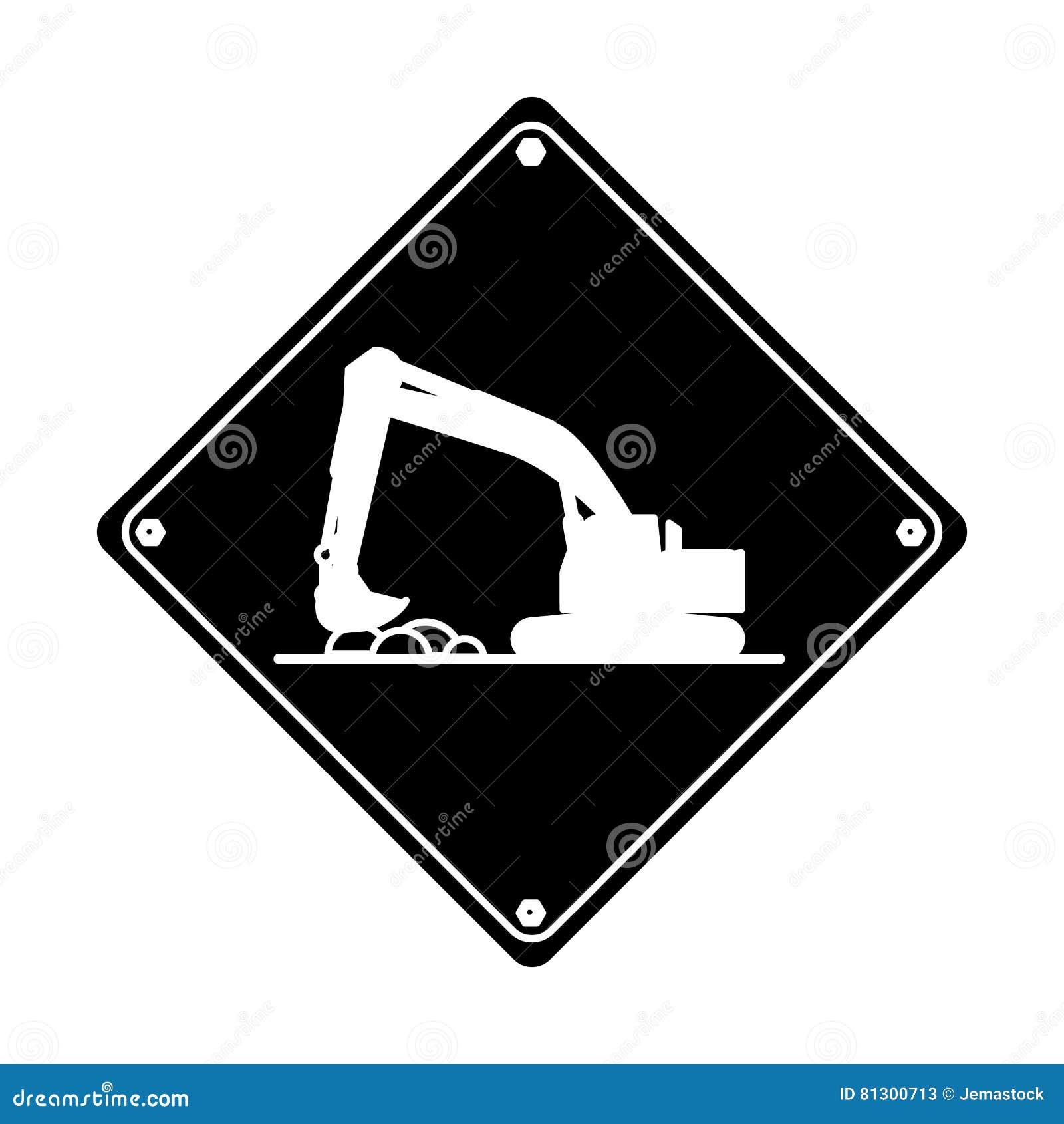 Hård pictogram för grävskopalastbilbyggnation