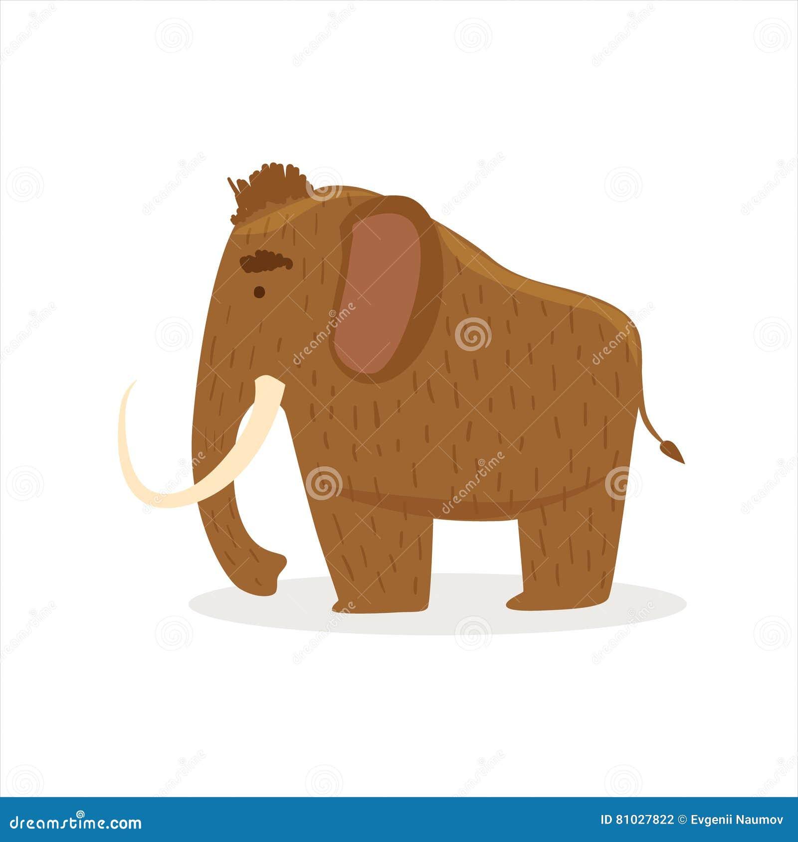 Hårigt brunt slocknat kolossalt, illustration för tecknad filmistiddjur