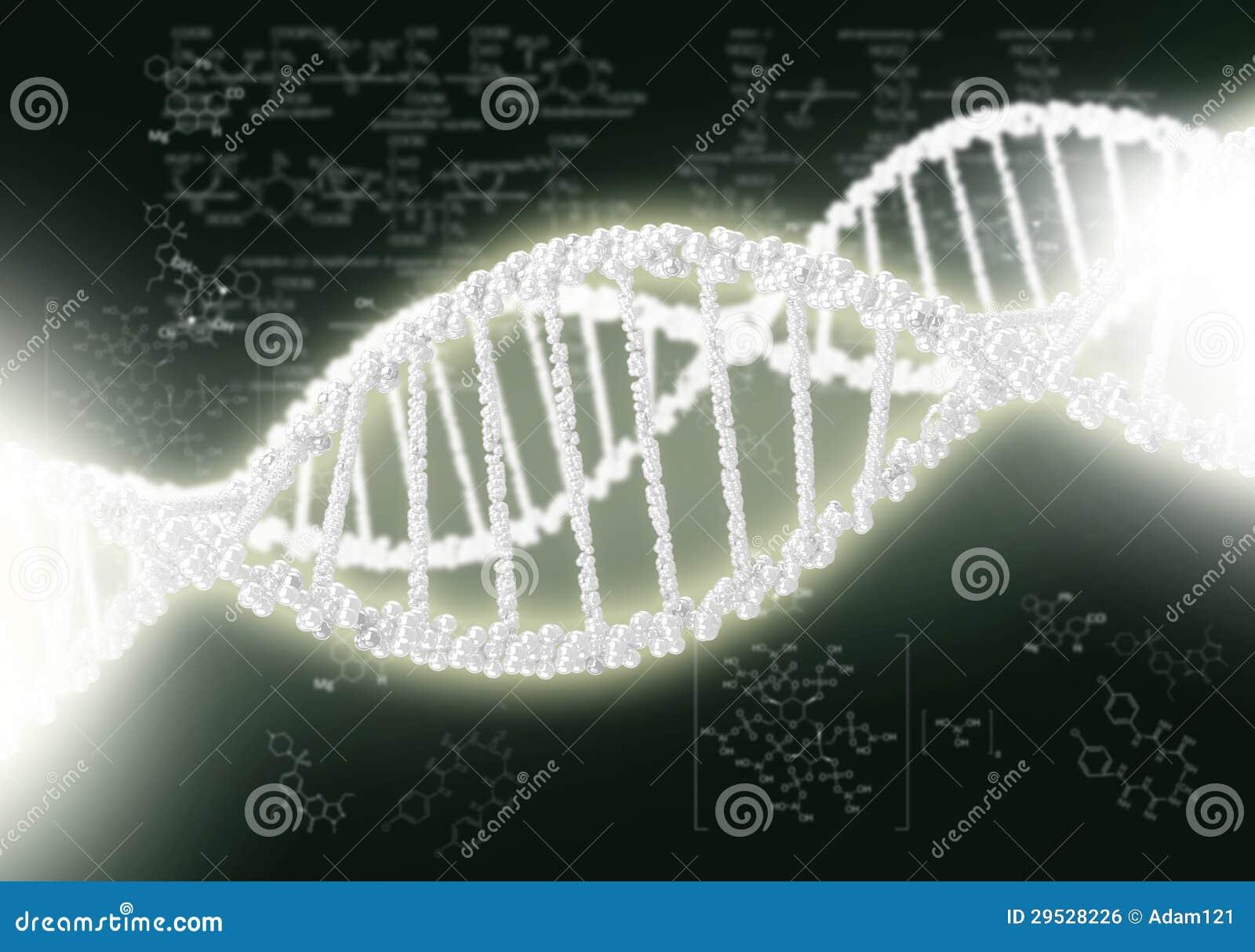 Hélice do ADN contra o fundo colorido