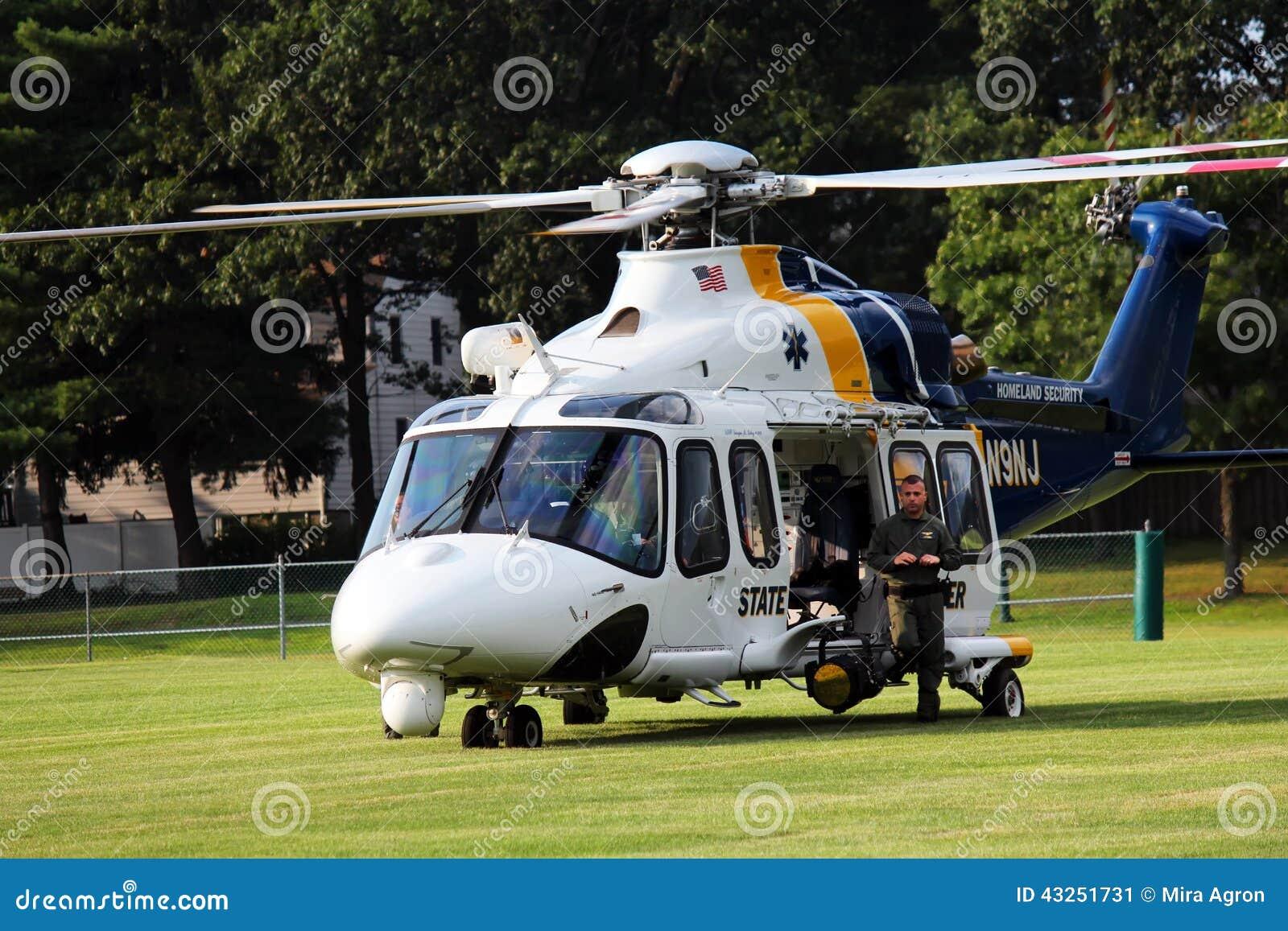 Hélicoptère de police d état