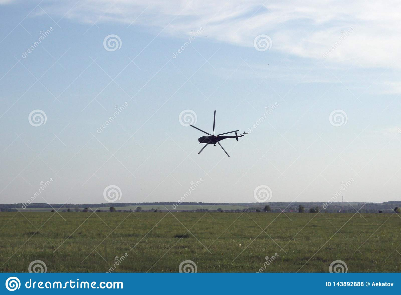 Hélicoptère extrême de décollage