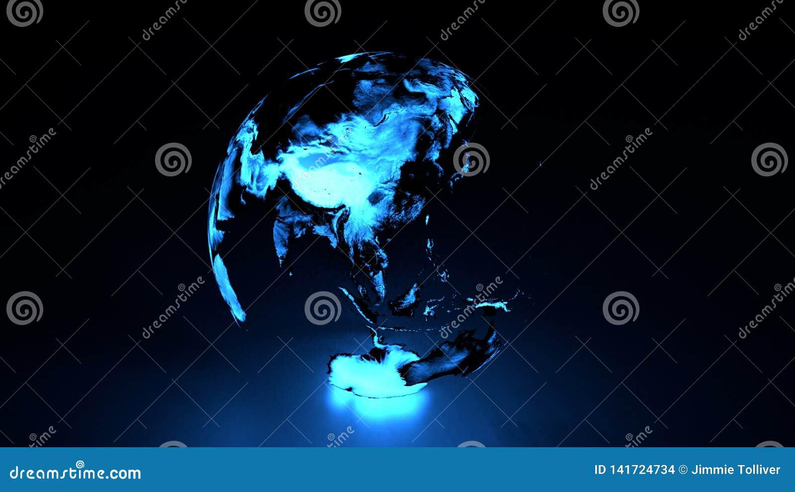 Hémisphère oriental de la terre olographe