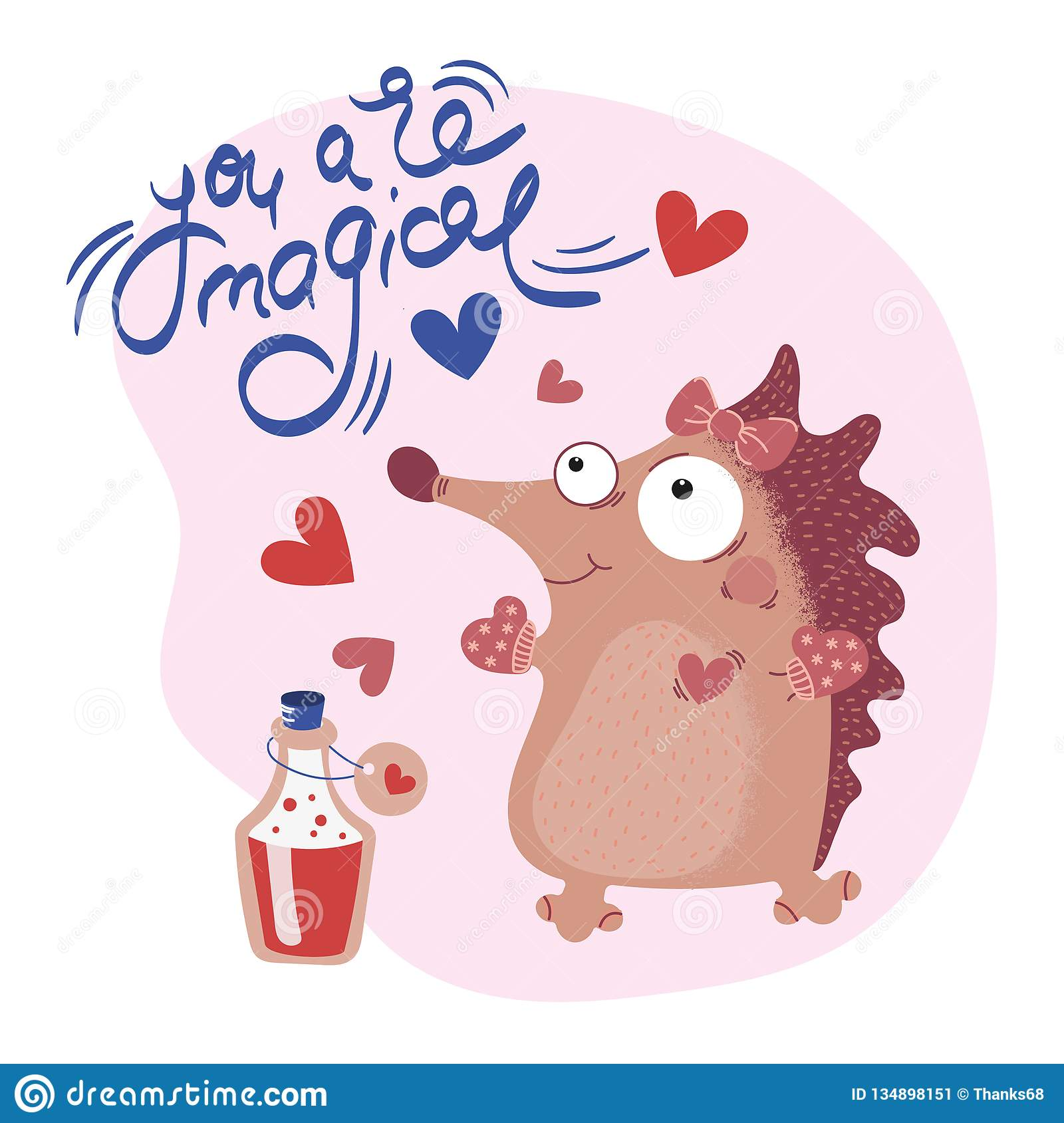 HÉRISSON Valentine Cartoon Animal Set de MOTIVATION