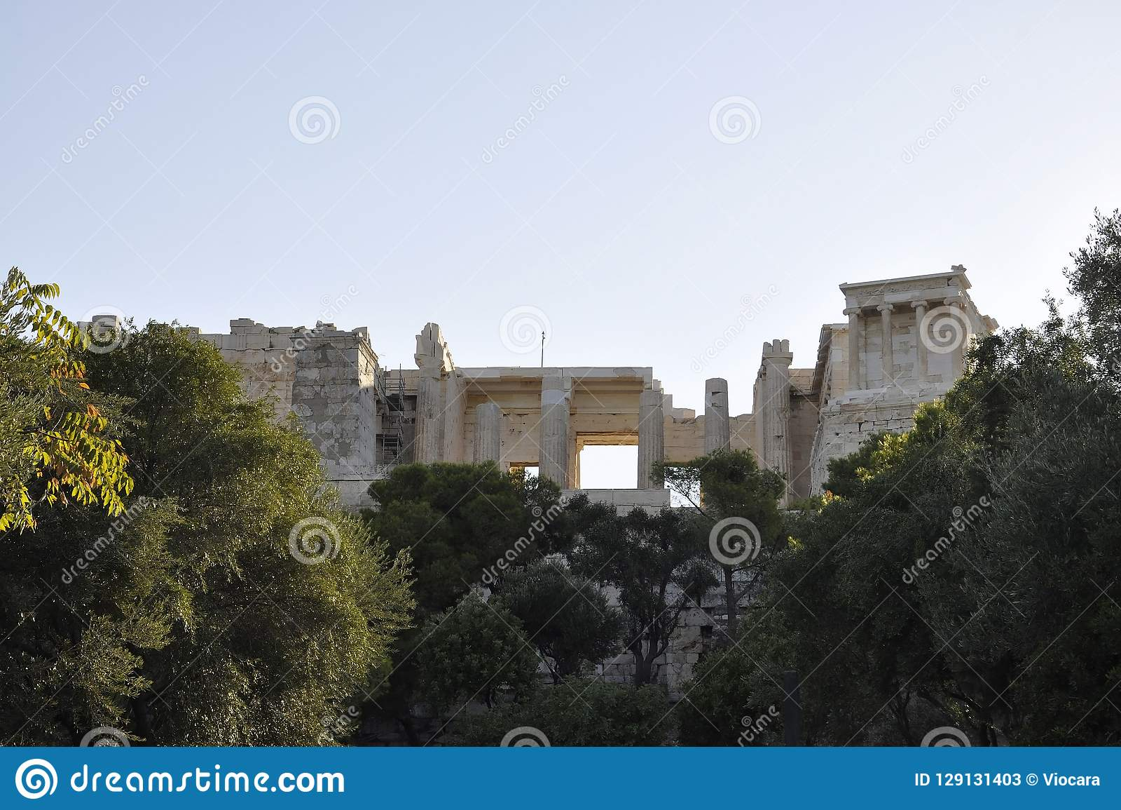 Héritage archéologique d Acropole d Athènes en Grèce