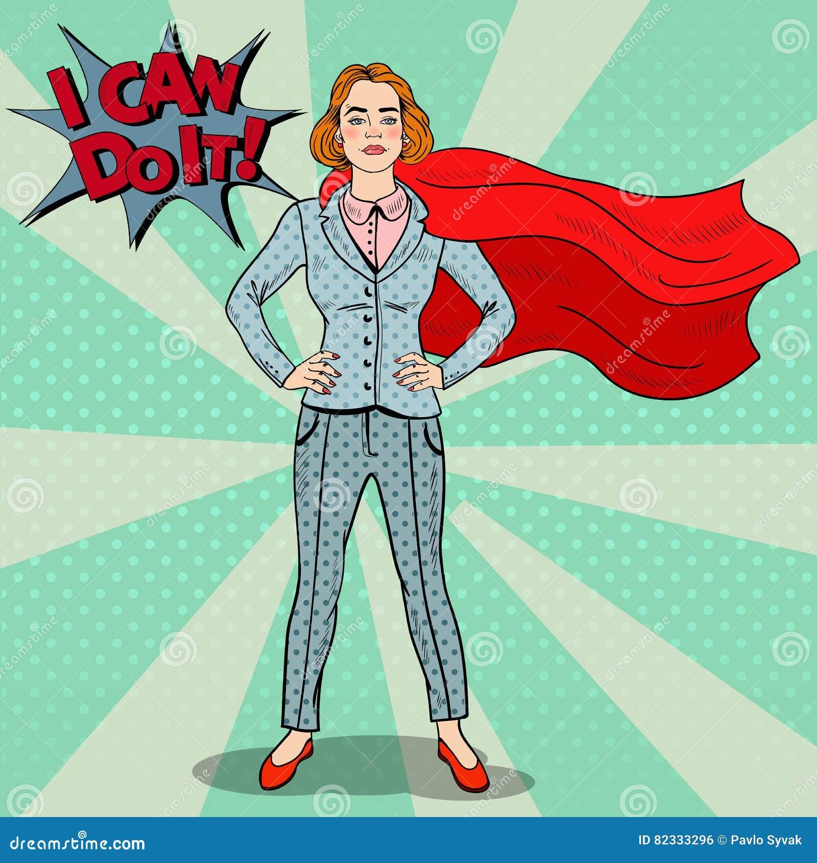 Héros d Art Confident Business Woman Super de bruit