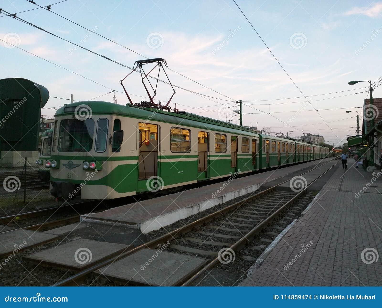 HÉV station in Budapest, Hungary