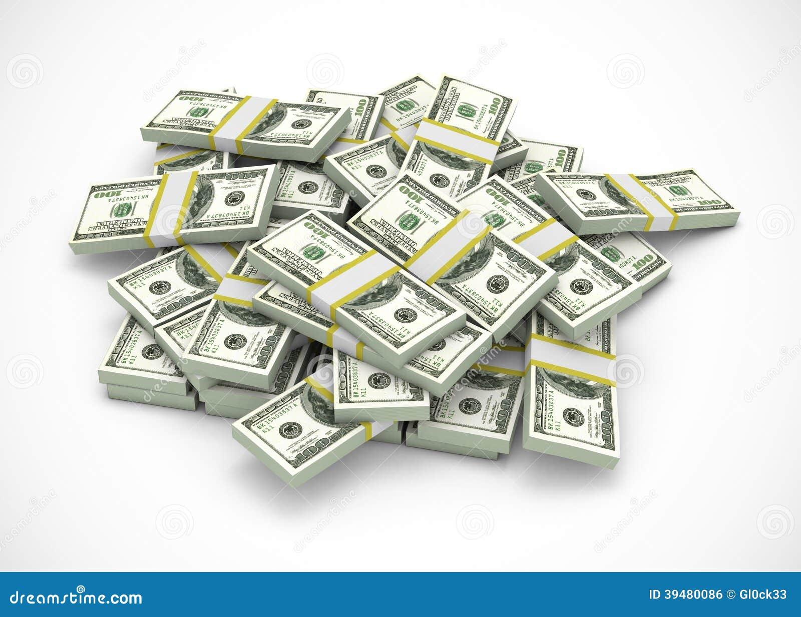 Hög av dollar