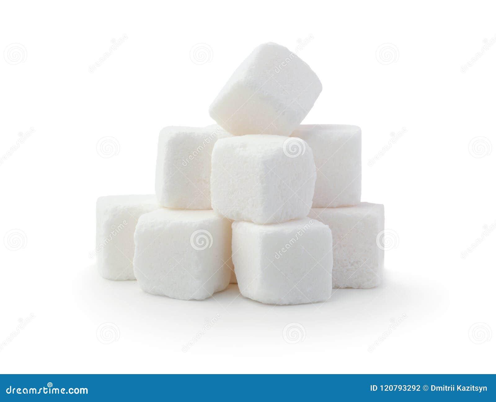 Hög av isolerade sockerkuber