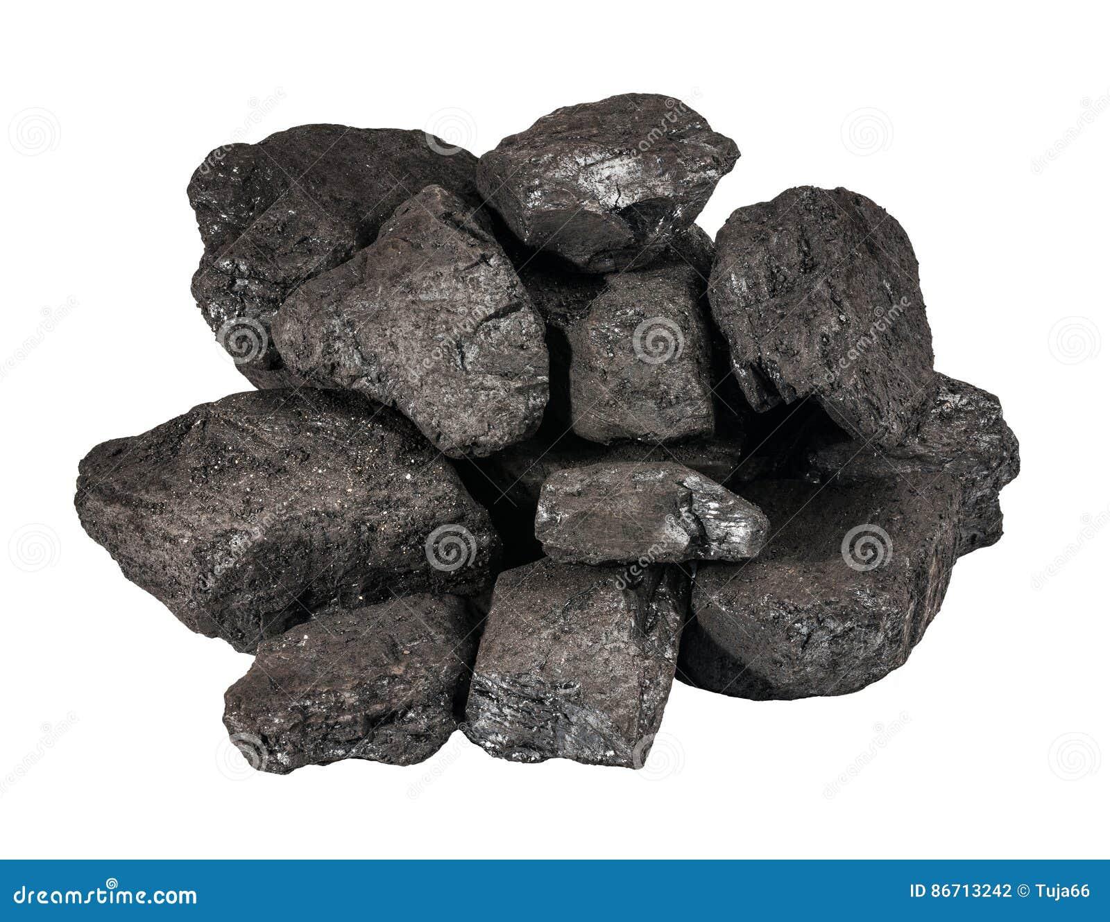 Hög av svart kol