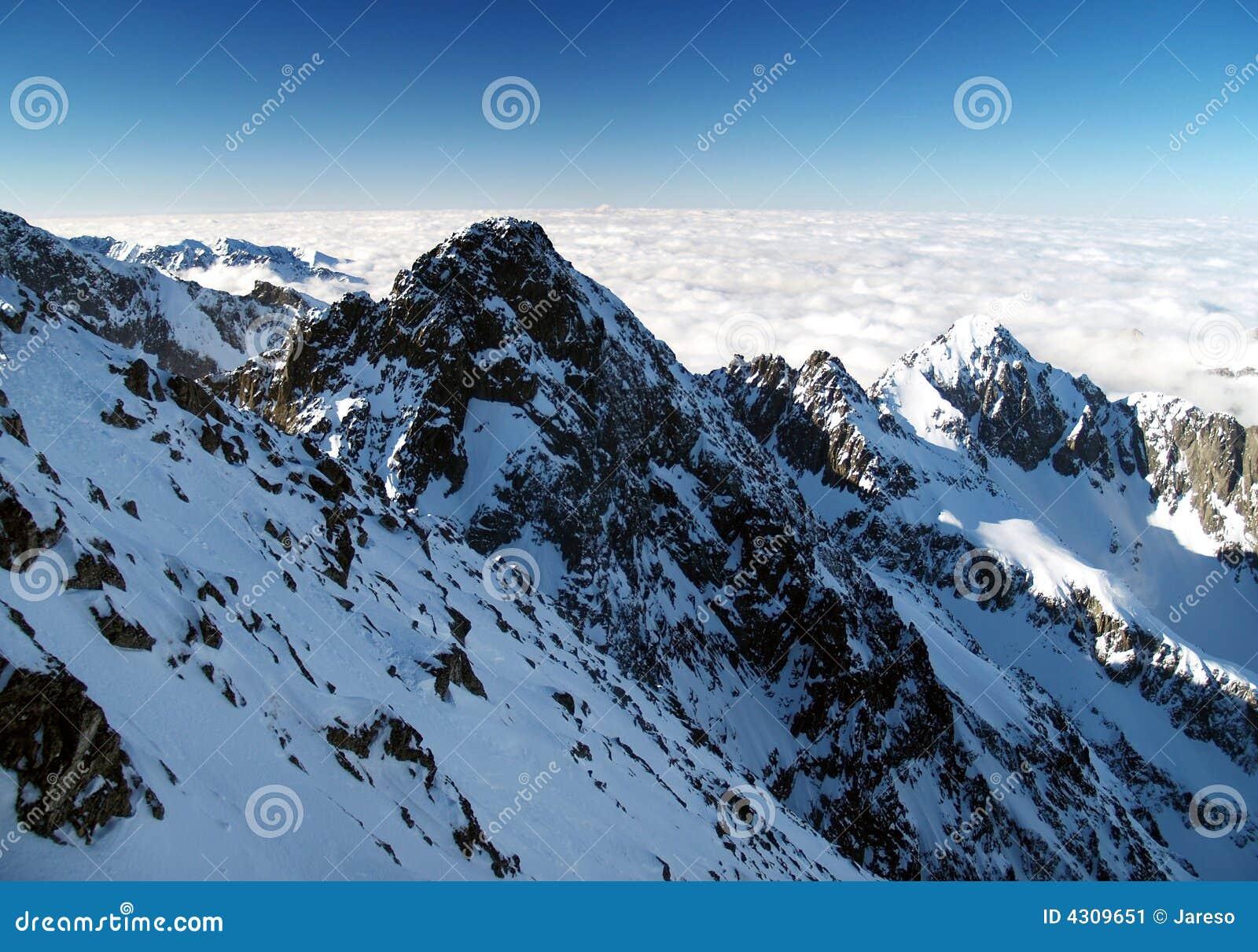 Höga Tatra berg i vinter