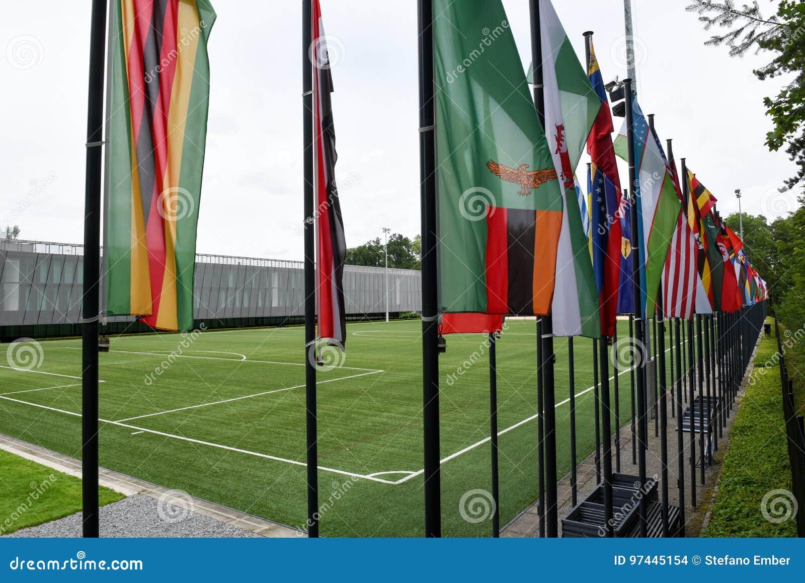 Högkvarter av FIFA på Zurich på Schweiz