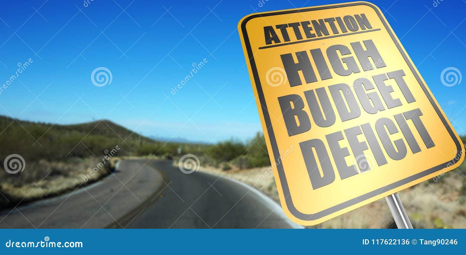 Högt budgetunderskottvägmärke