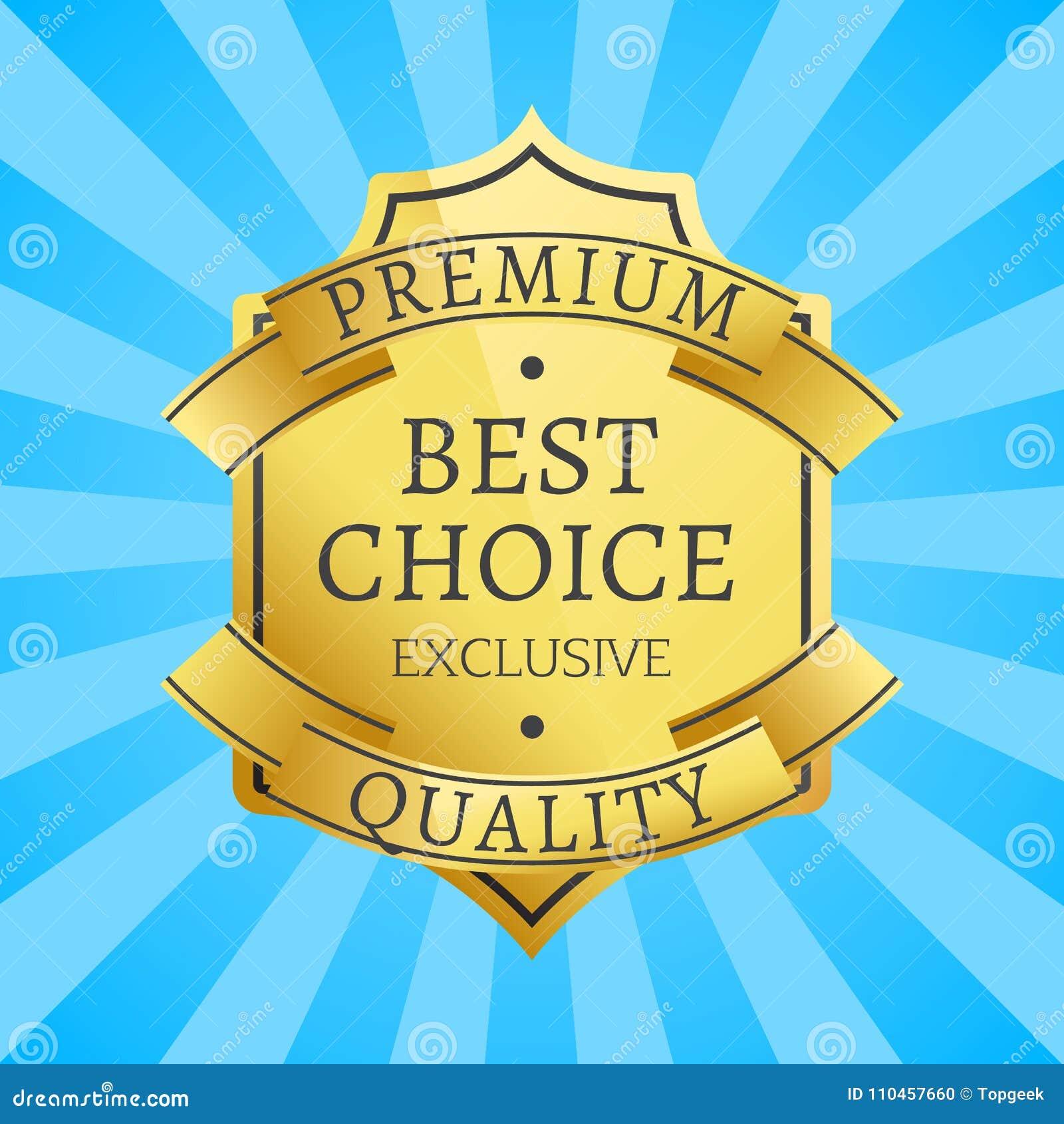 Högvärdig kvalitets- exklusiv guld- etikett, garanti