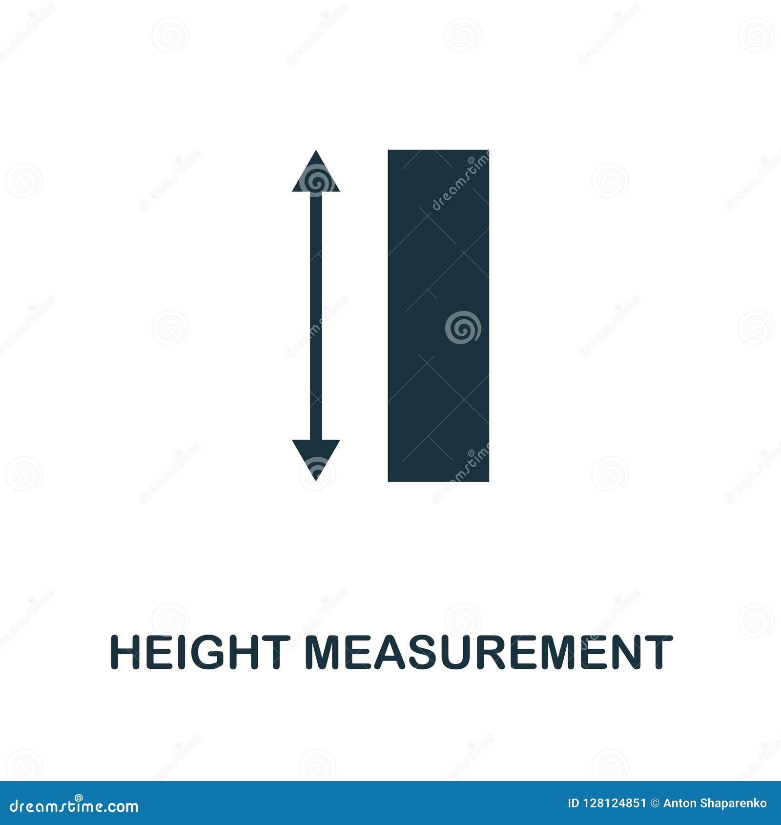 Höhenmessungsikone Einfarbiger Artentwurf von der Maßikonensammlung UI und UX Perfektes ico Höhenmessung des Pixels