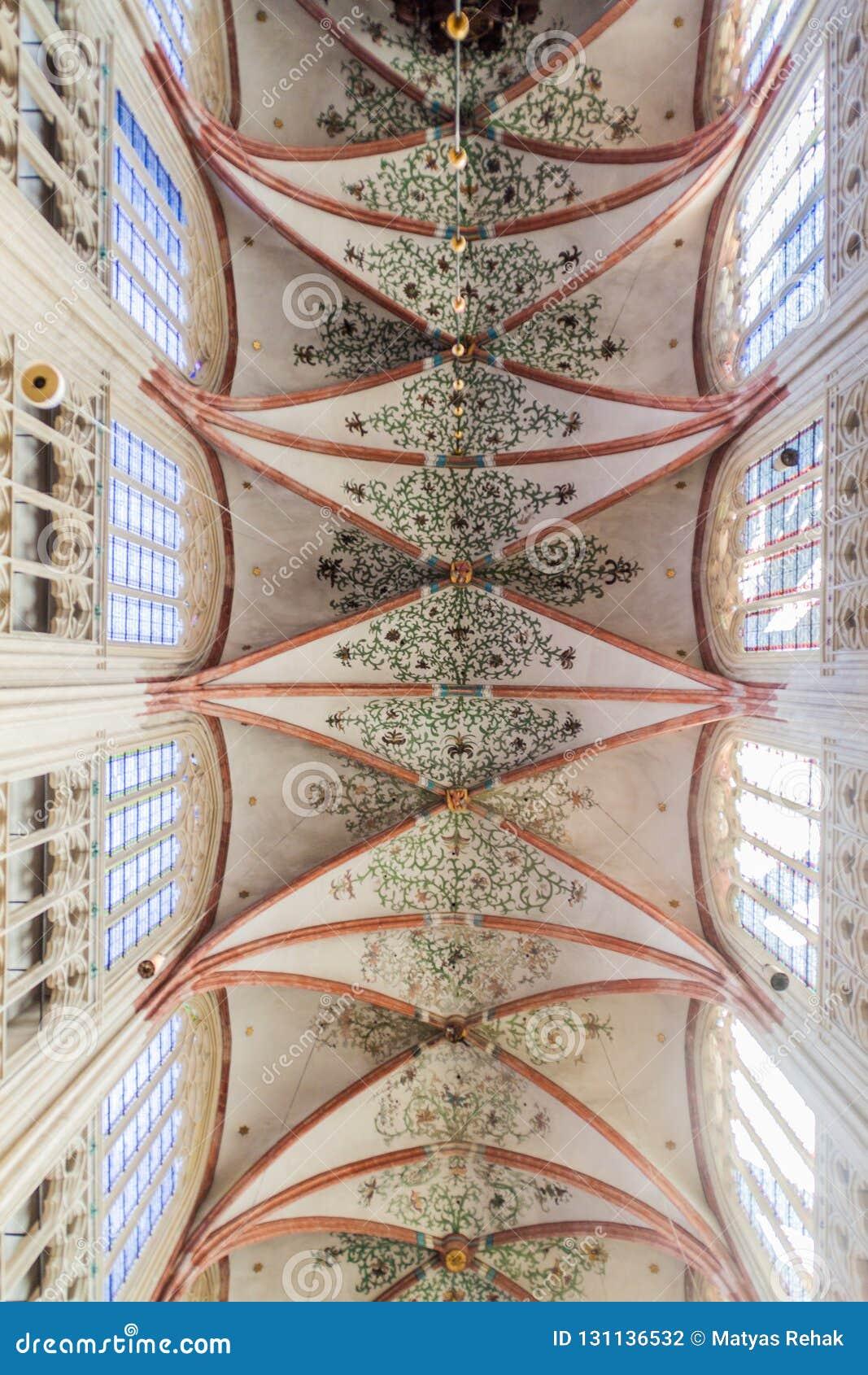 HÖHLE BOSCH, DIE NIEDERLANDE - 30. AUGUST 2016: Innenraum von gotischen Saint Johns Kathedrale in Den Bosch, Netherlan