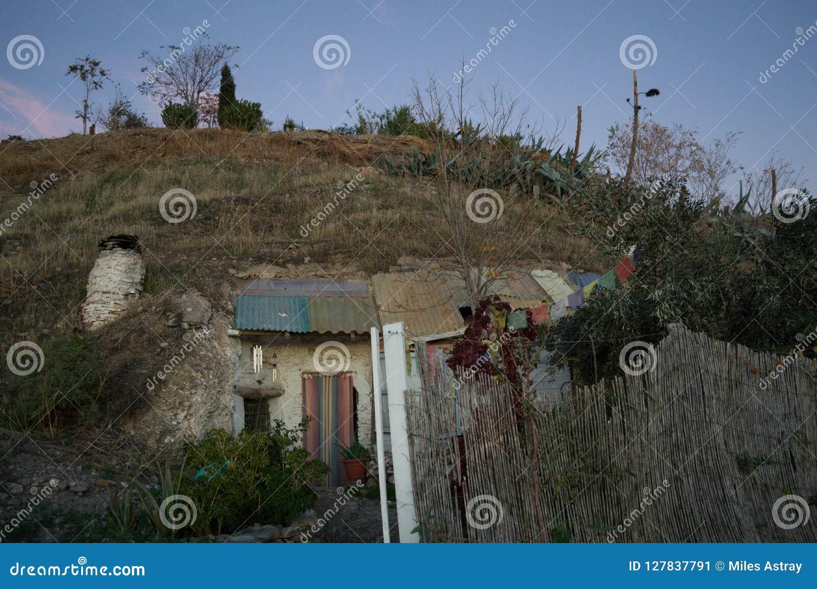 Höhlen-Häuser in Sacromonte-Nachbarschaft, Granada, Spanien