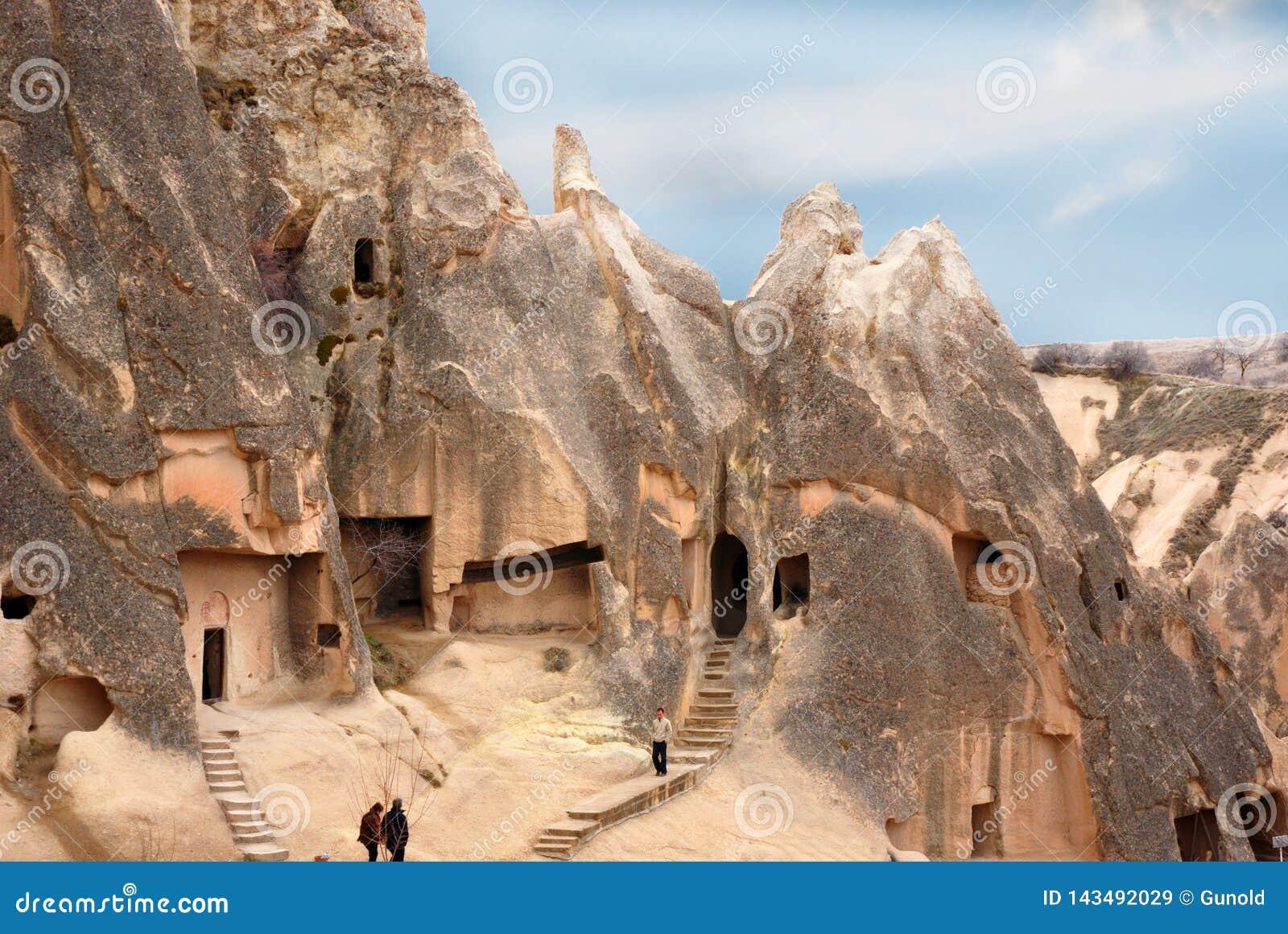 Höhlenhäuser in Cappadocia, die Türkei