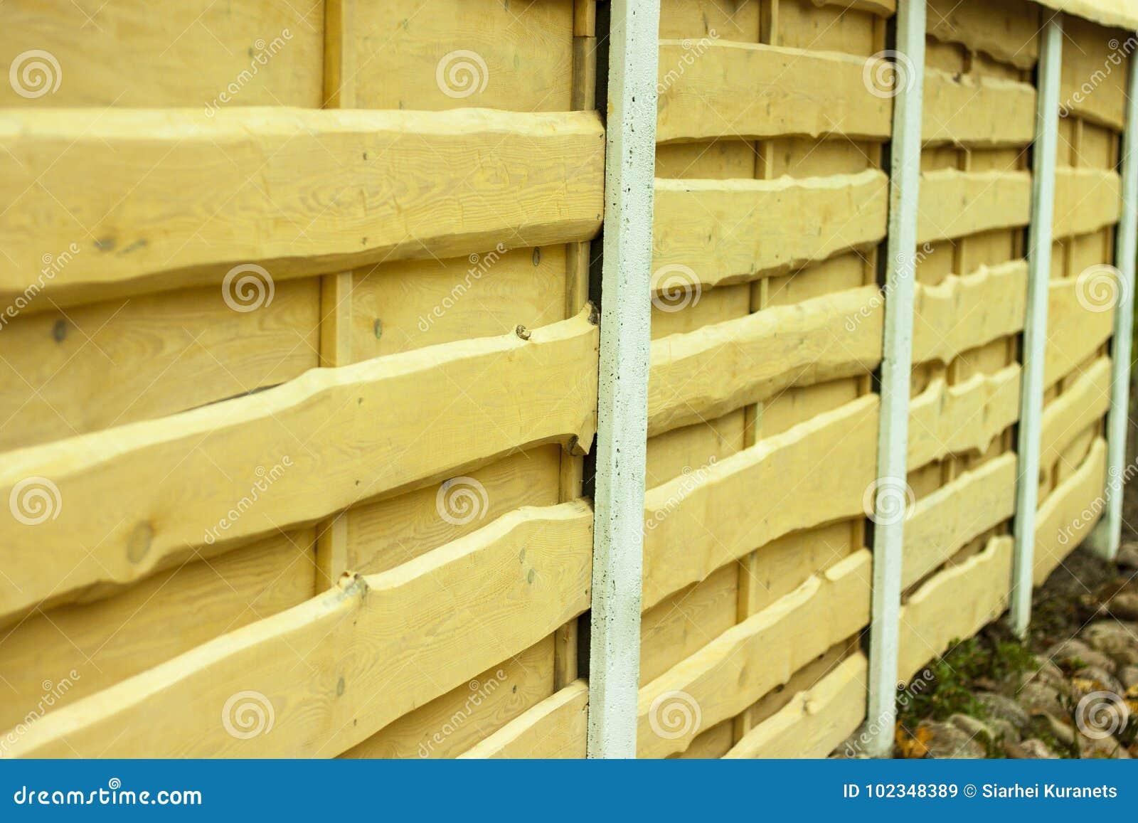 Holzerne Beschaffenheit Horizontale Bretter Zaun Hergestellt Vom