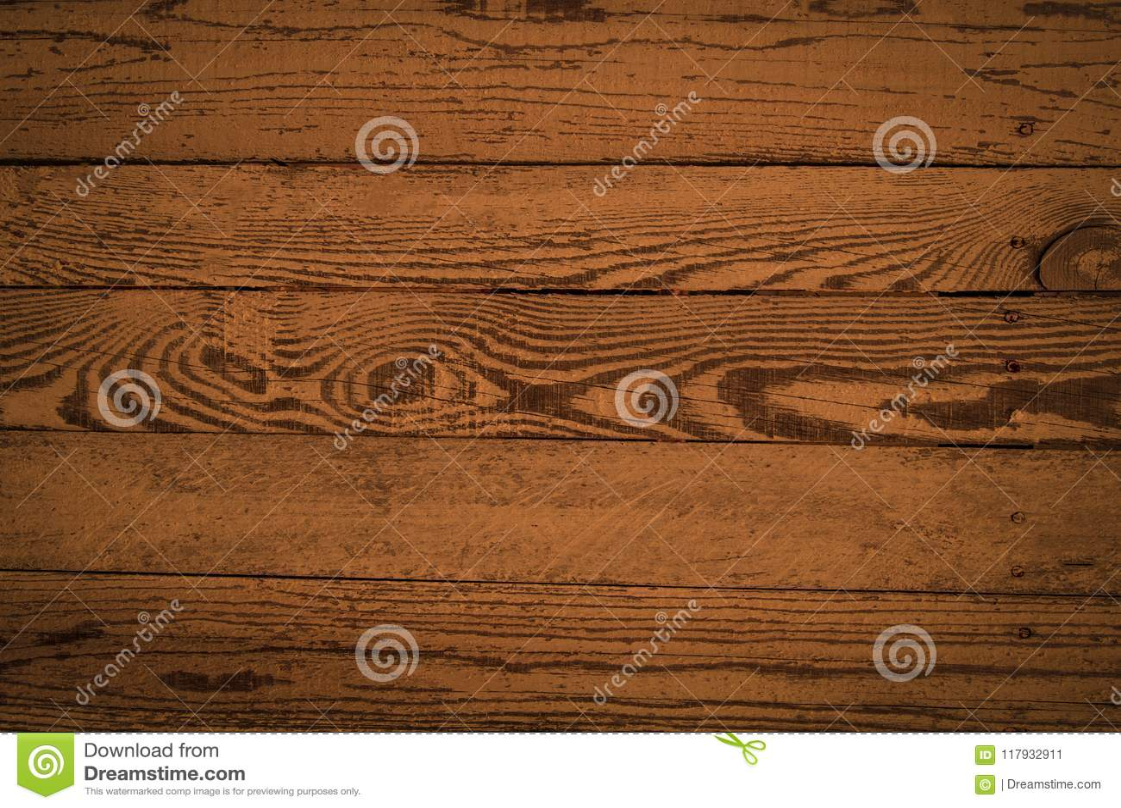 Hölzerne Beschaffenheit von horizontalen Brettern in einer braunen Farbe