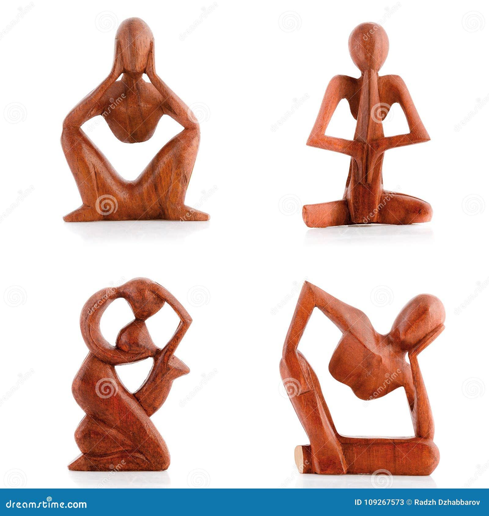 Hölzerne Figürchen, dekorative Figürchen, menschliche Figürchen,