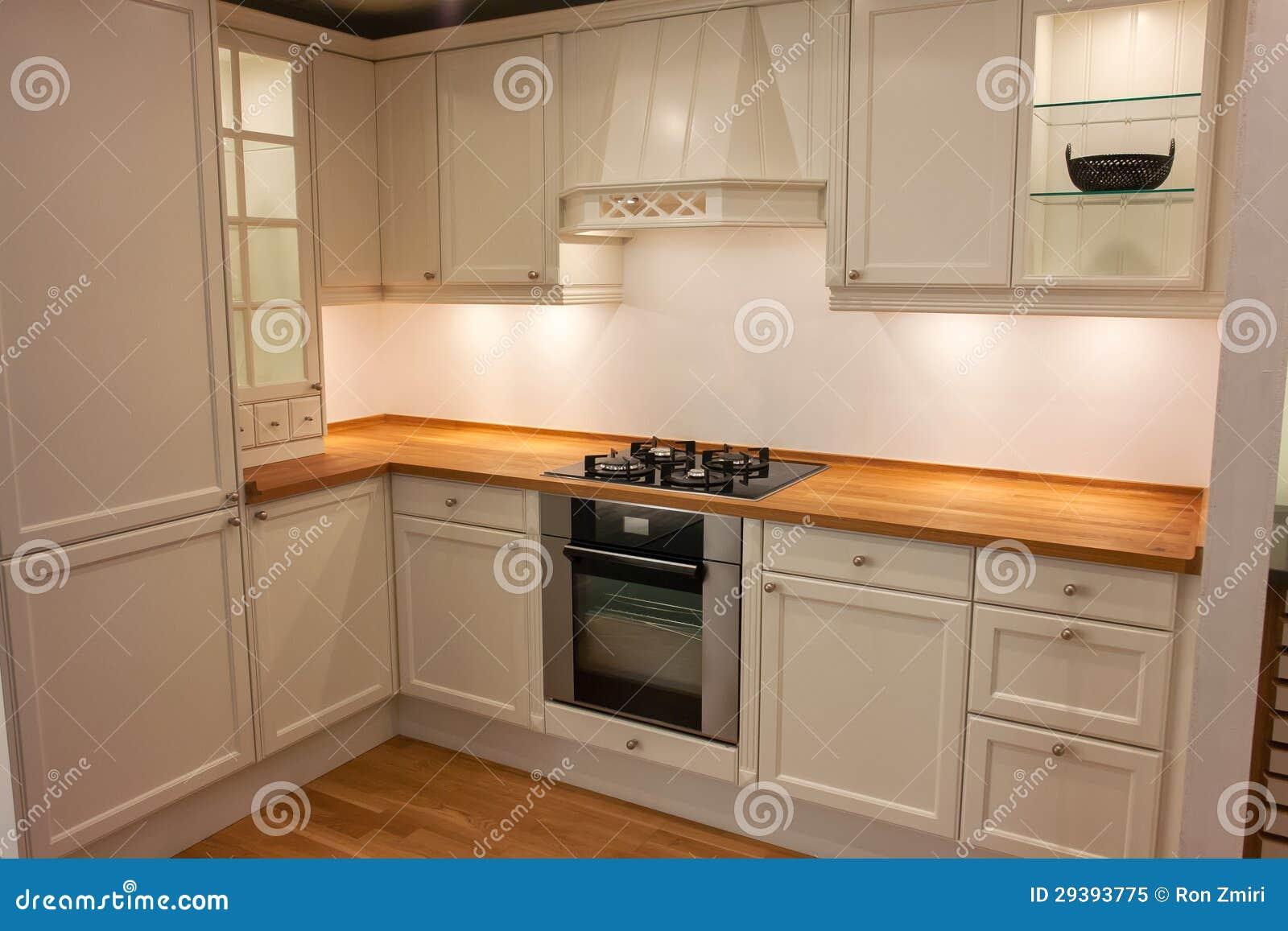 hölzerne landküche der modernen klassischen neoauslegung ... - Land Küche