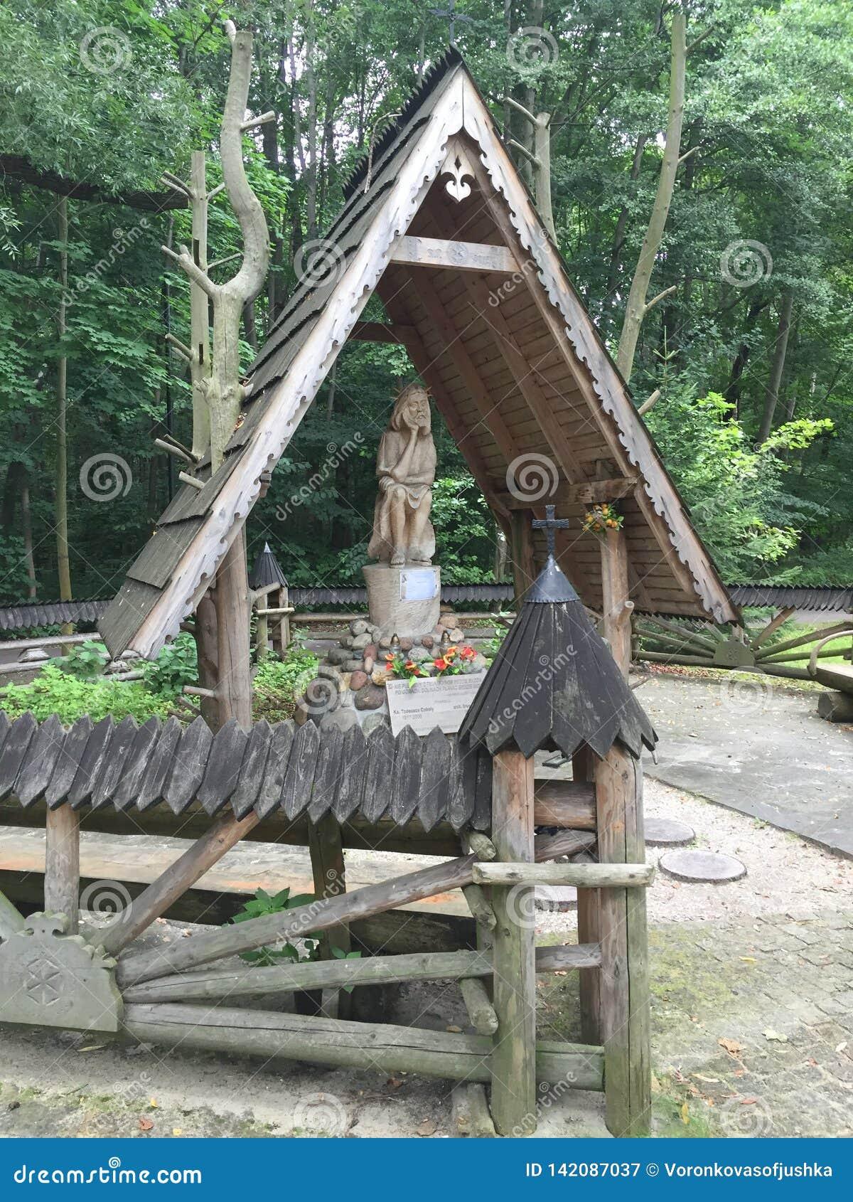 Hölzerne Skulptur im Park Sopot Polen