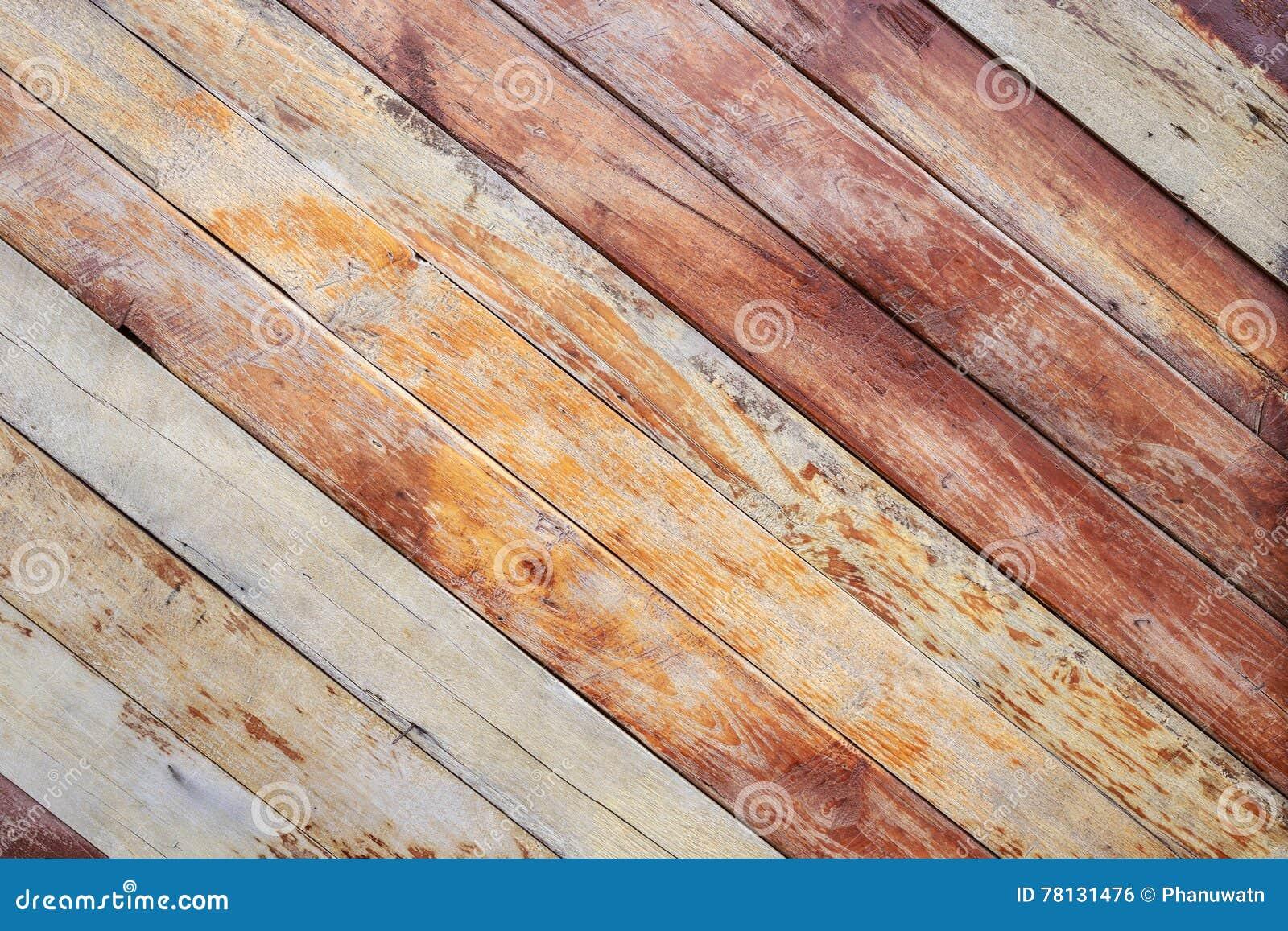 Holzerner Aussendecking Oder Bodenbelag Auf Der Terrasse Stockfoto