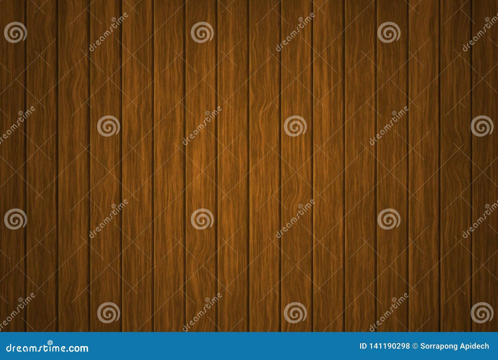 Hölzerner Hintergrund der Illustration, die Oberfläche der alten braunen hölzernen Beschaffenheit, Draufsichtholztäfelung