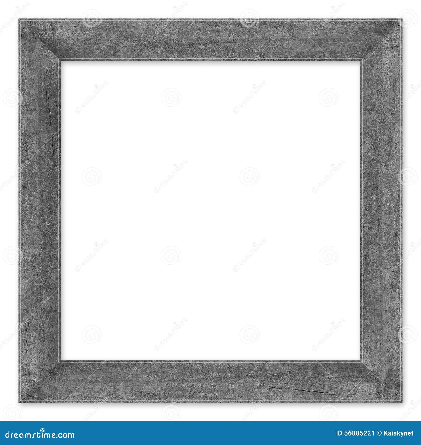 Hölzerner Rahmen lokalisiert auf einem Weiß