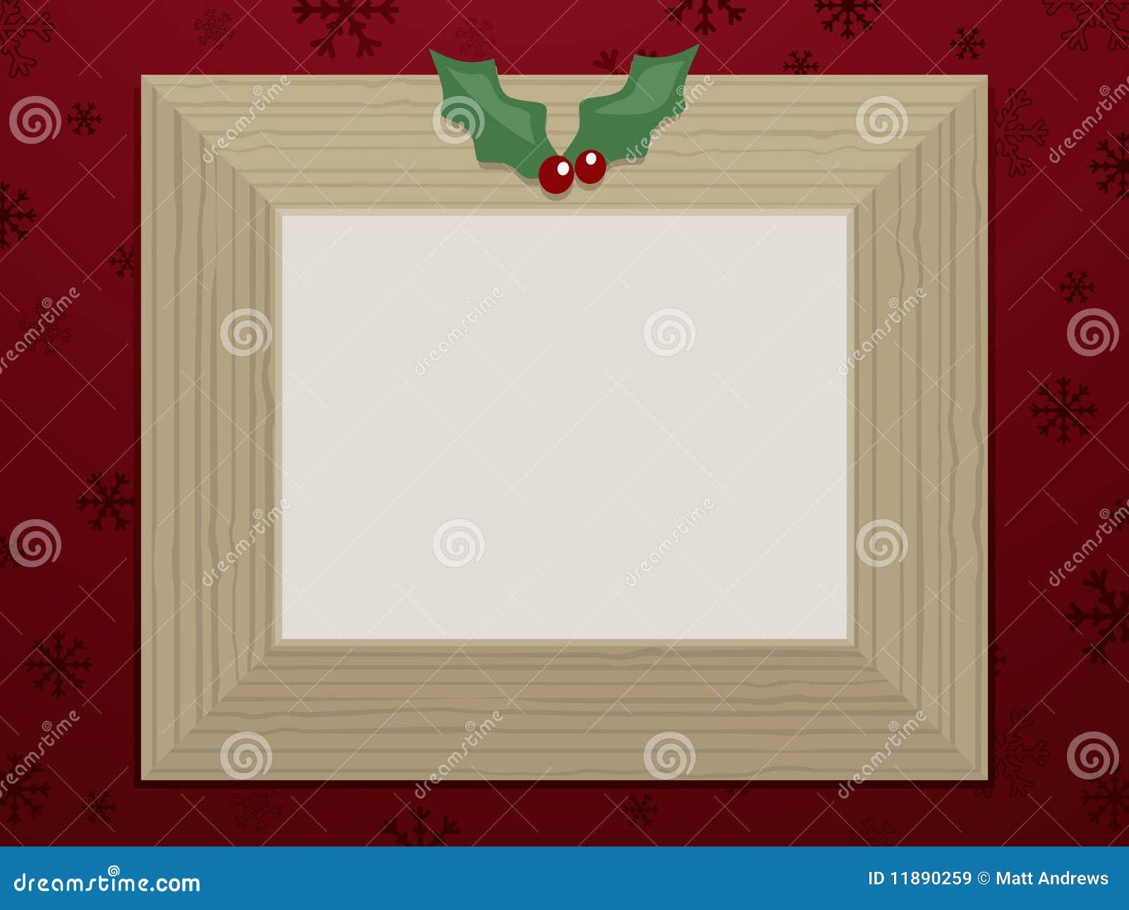 Hölzerner Weihnachtsbilderrahmen Vektor Abbildung - Illustration von ...
