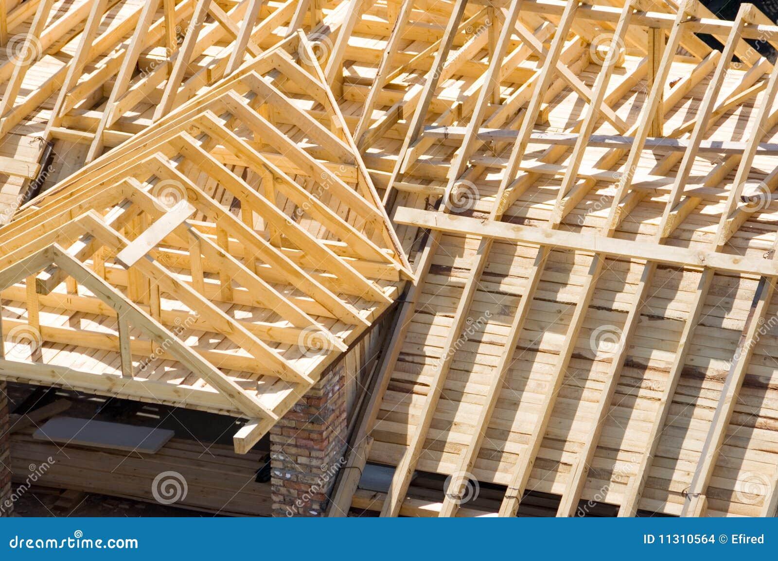 Hölzernes Dach