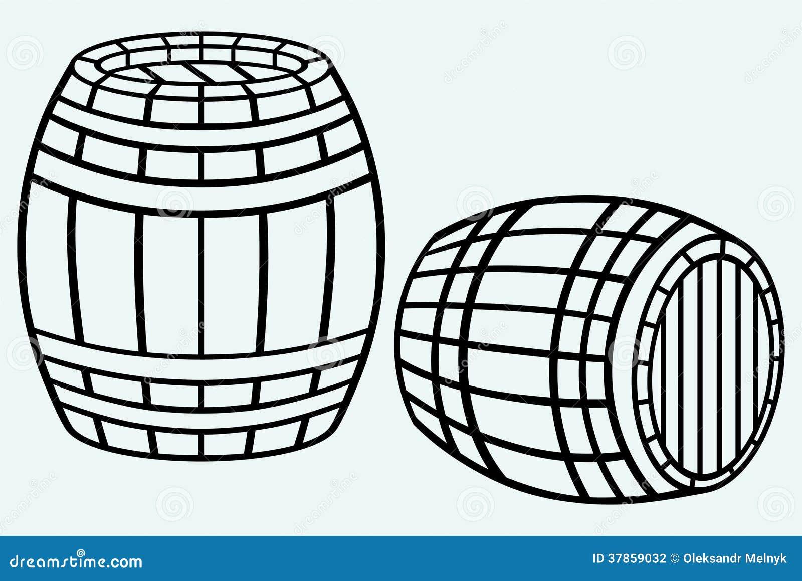 h lzernes fass stockfotografie bild 37859032. Black Bedroom Furniture Sets. Home Design Ideas