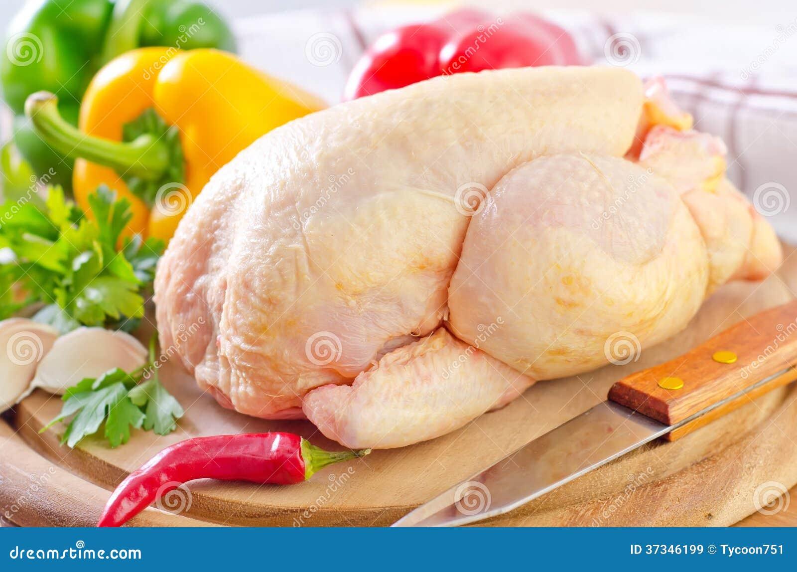 Höna och grönsaker