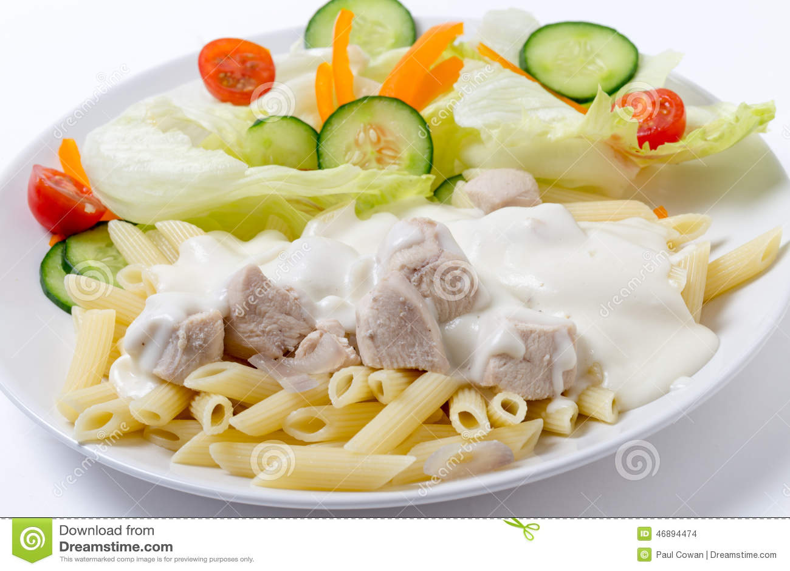 vit sås till pasta