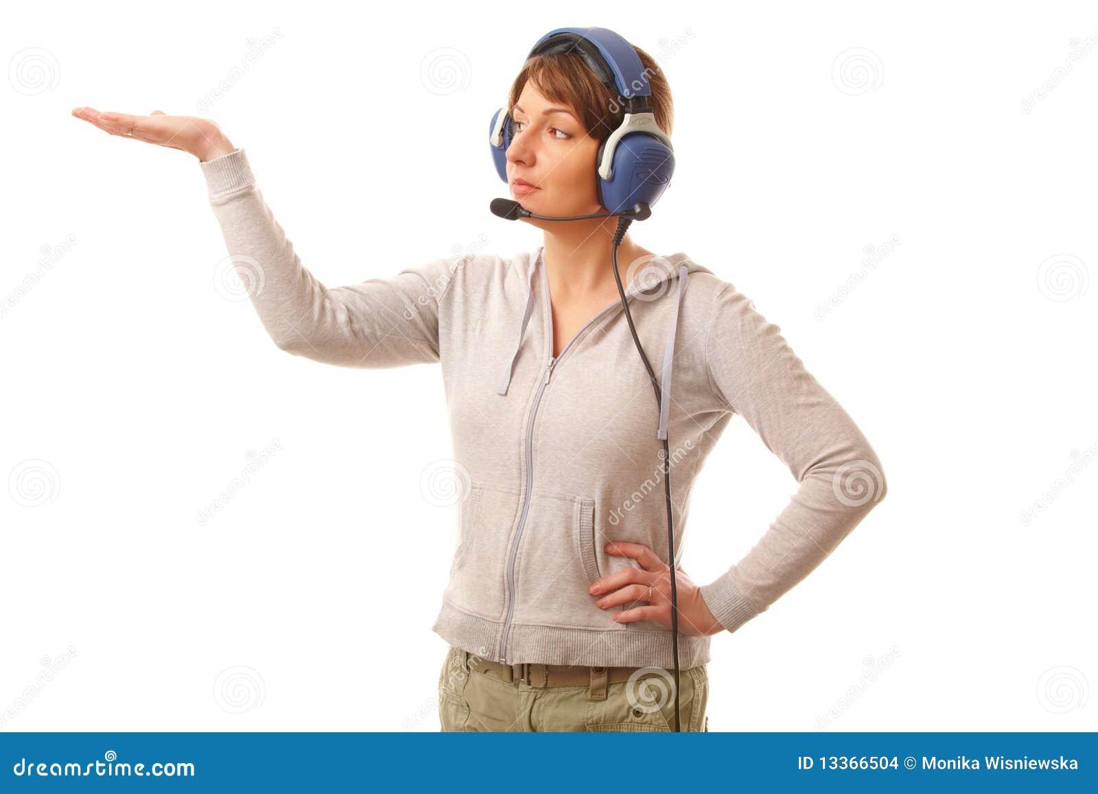 Hörlurar med mikrofonpilot