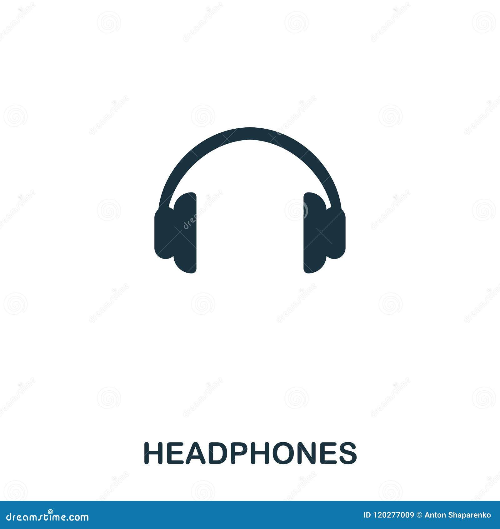 Hörlurarsymbol Linje stilsymbolsdesign Ui Illustration av hörlurarsymbolen pictogram som isoleras på vit ordna till för att använ
