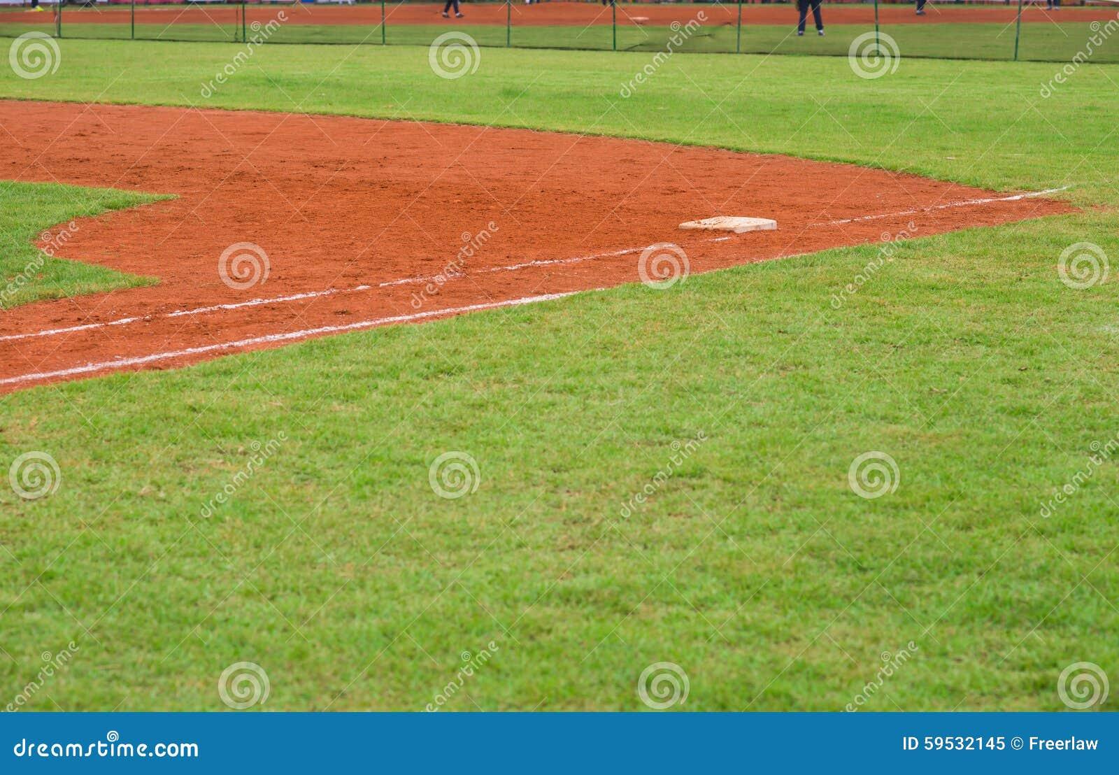 Hörn av baseballfältet