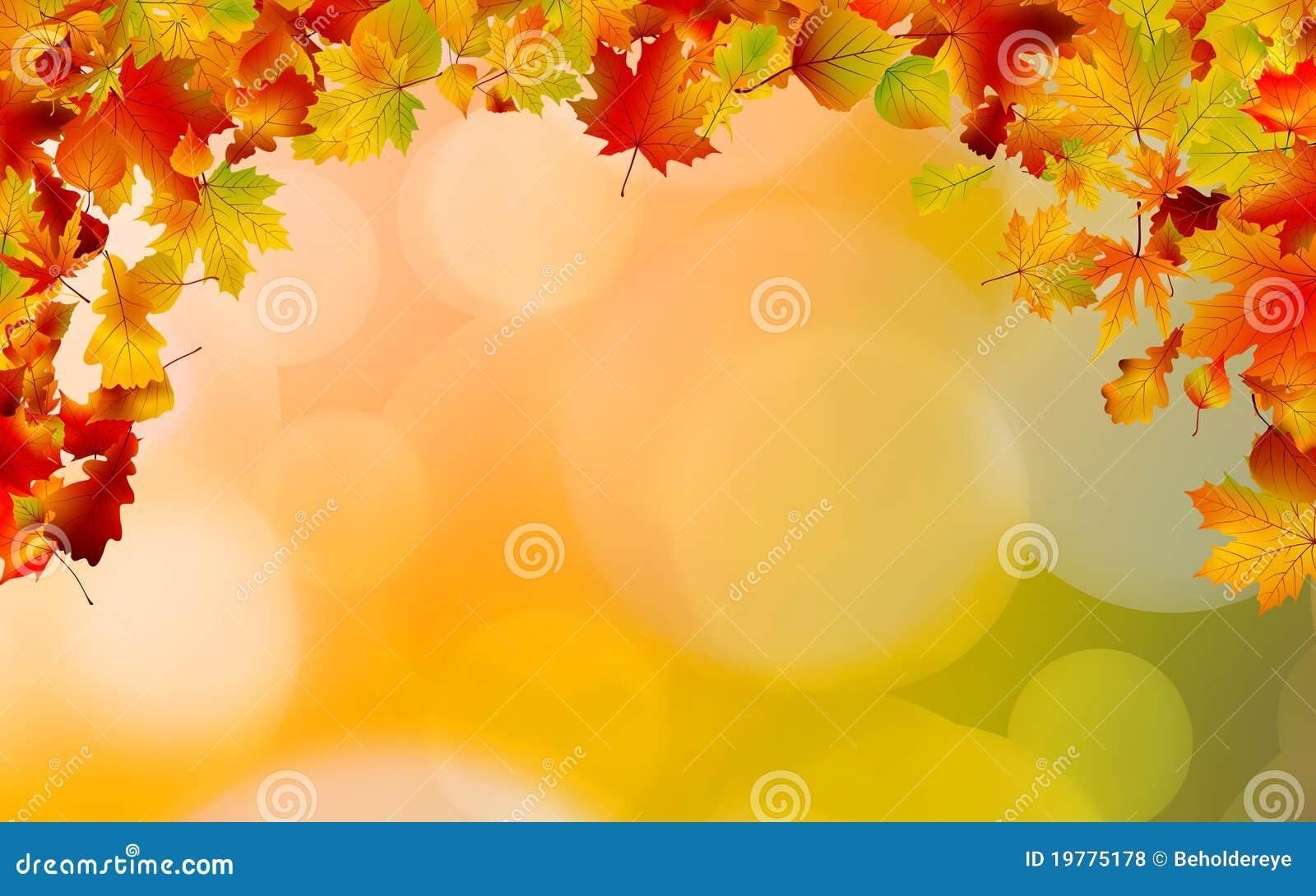 Höst 8 färgade inramning leaves för eps