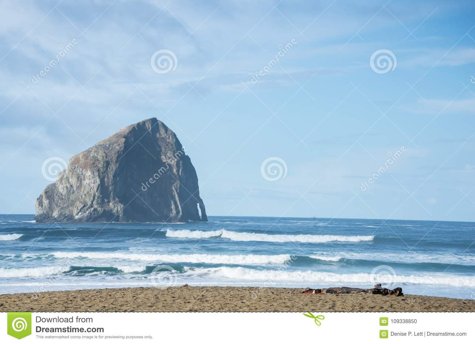 Höstacken vaggar och den centrala Oregon för havstranden kusten