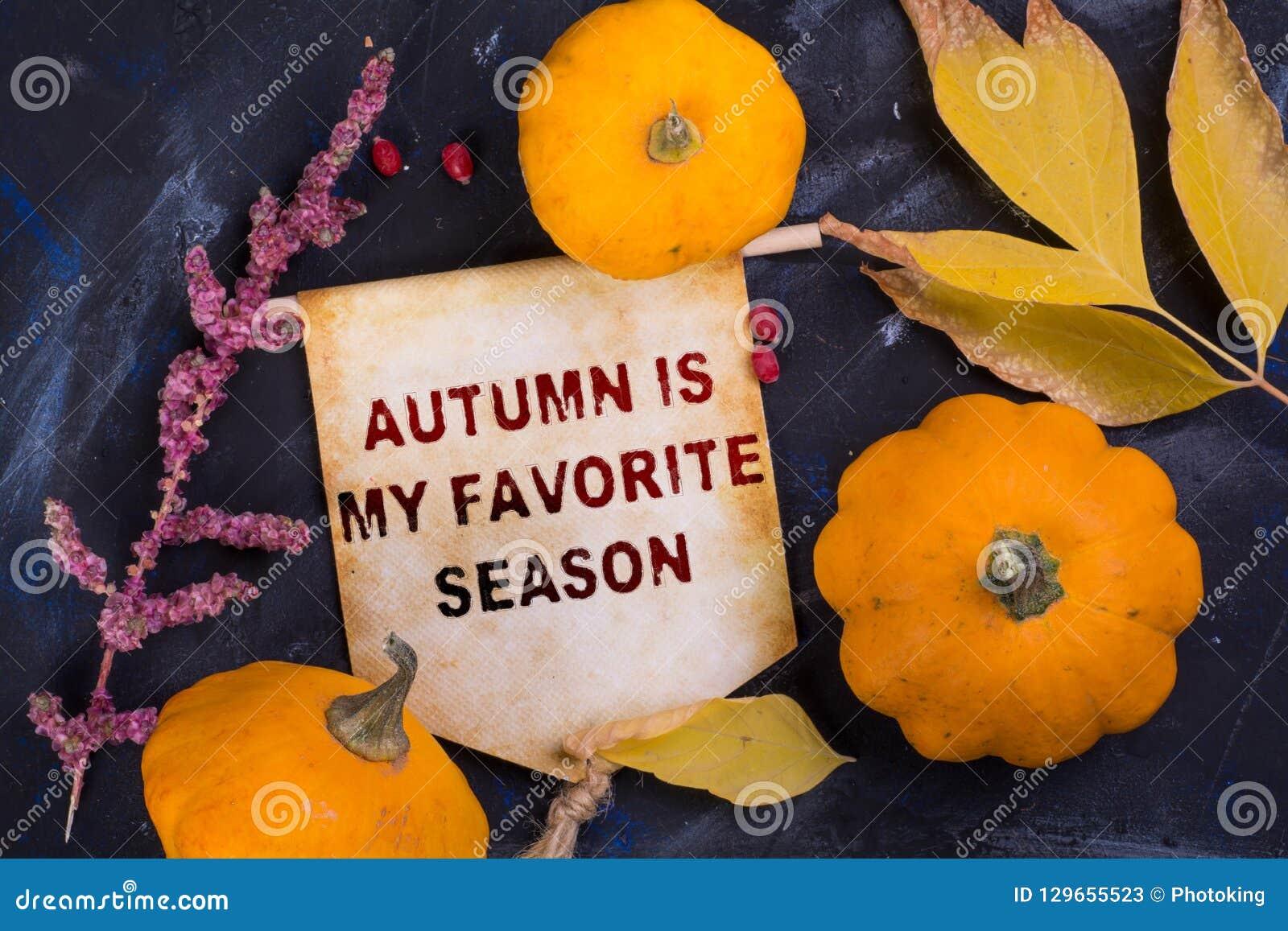 Hösten är min favorit- säsong