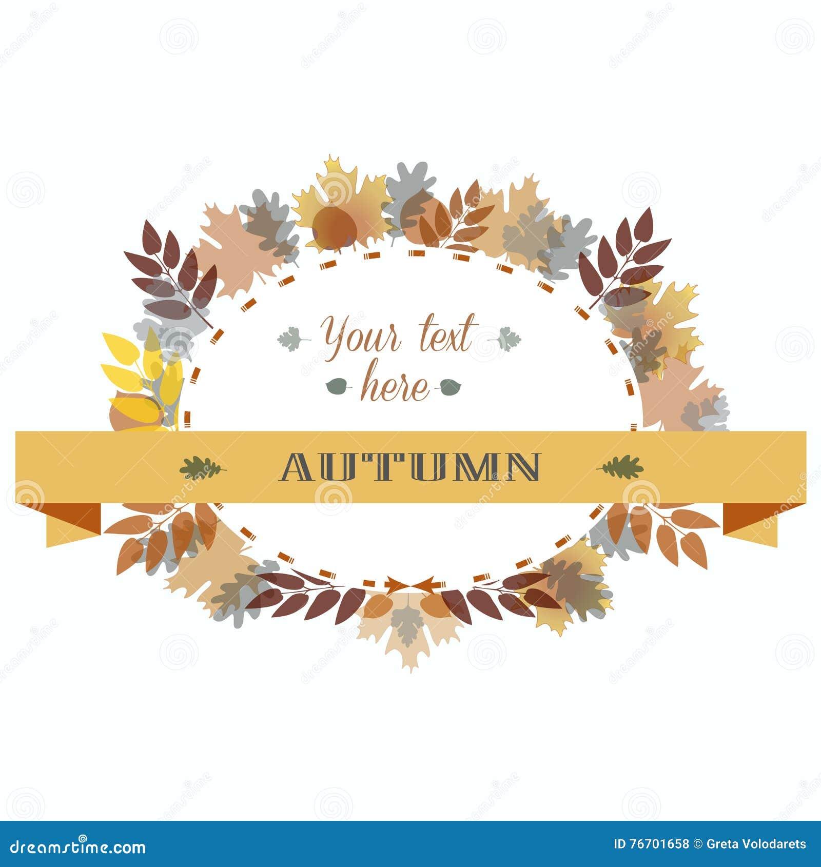 Hösten lämnar för att inrama också vektor för coreldrawillustration